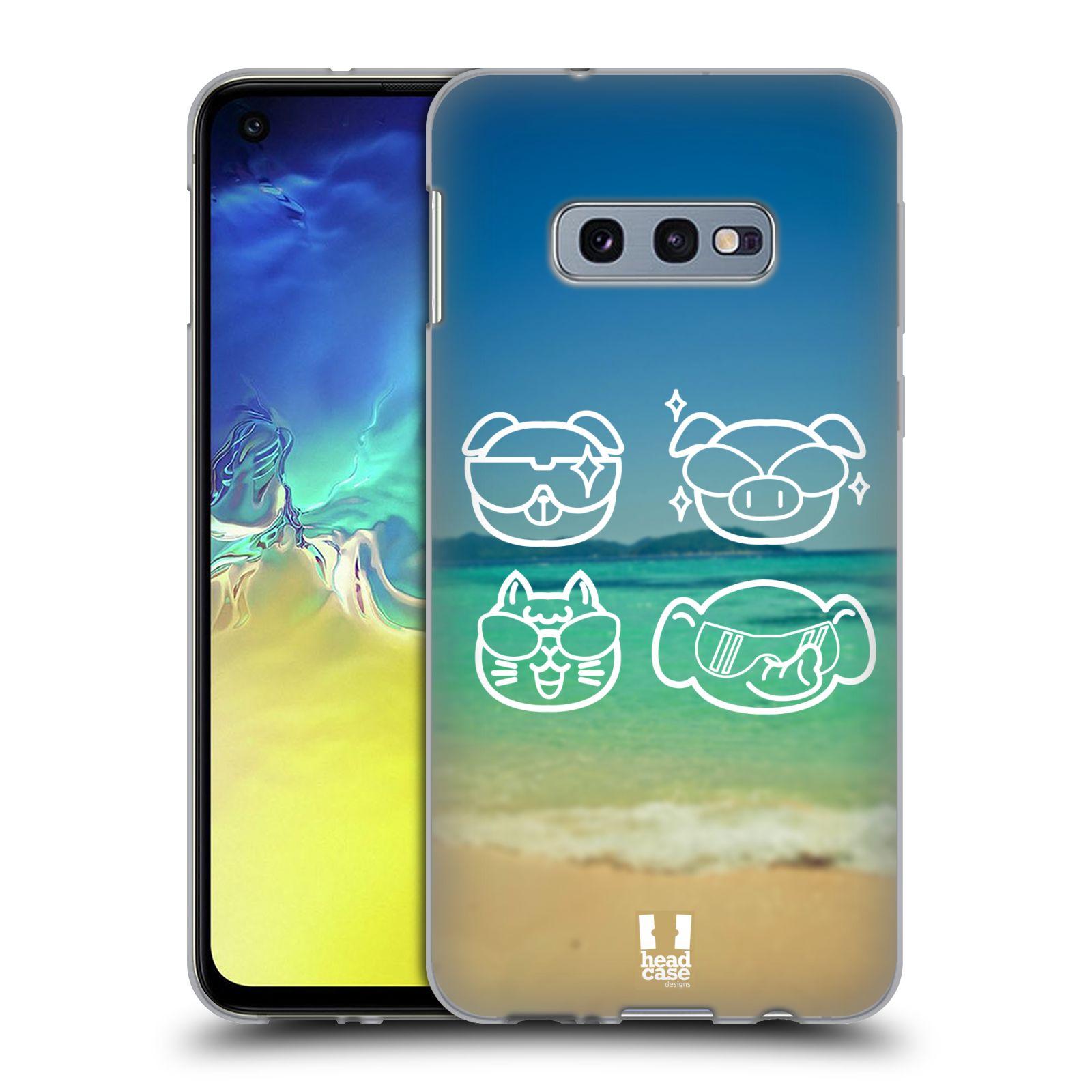 Silikonové pouzdro na mobil Samsung Galaxy S10e - Head Case - EMOJI COOL