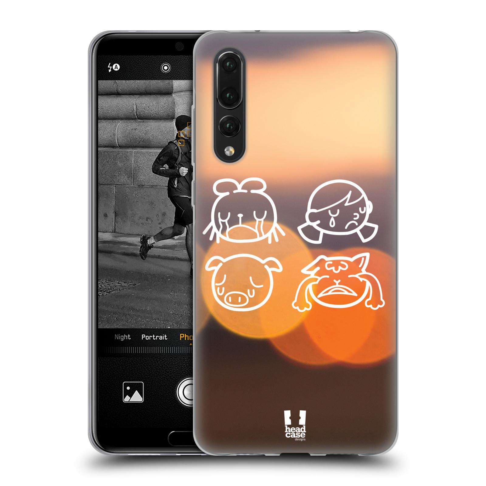 Silikonové pouzdro na mobil Huawei P20 Pro - Head Case - EMOJI SAD ... 1e211185b56