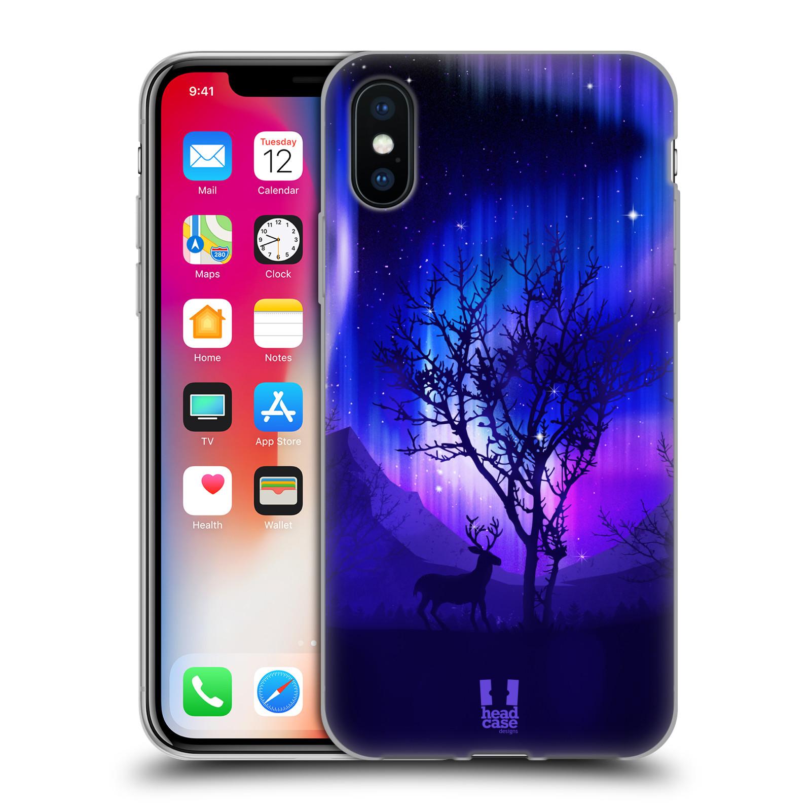 Silikonové pouzdro na mobil Apple iPhone XS - Head Case - POLÁRNÍ ZÁŘE STROM