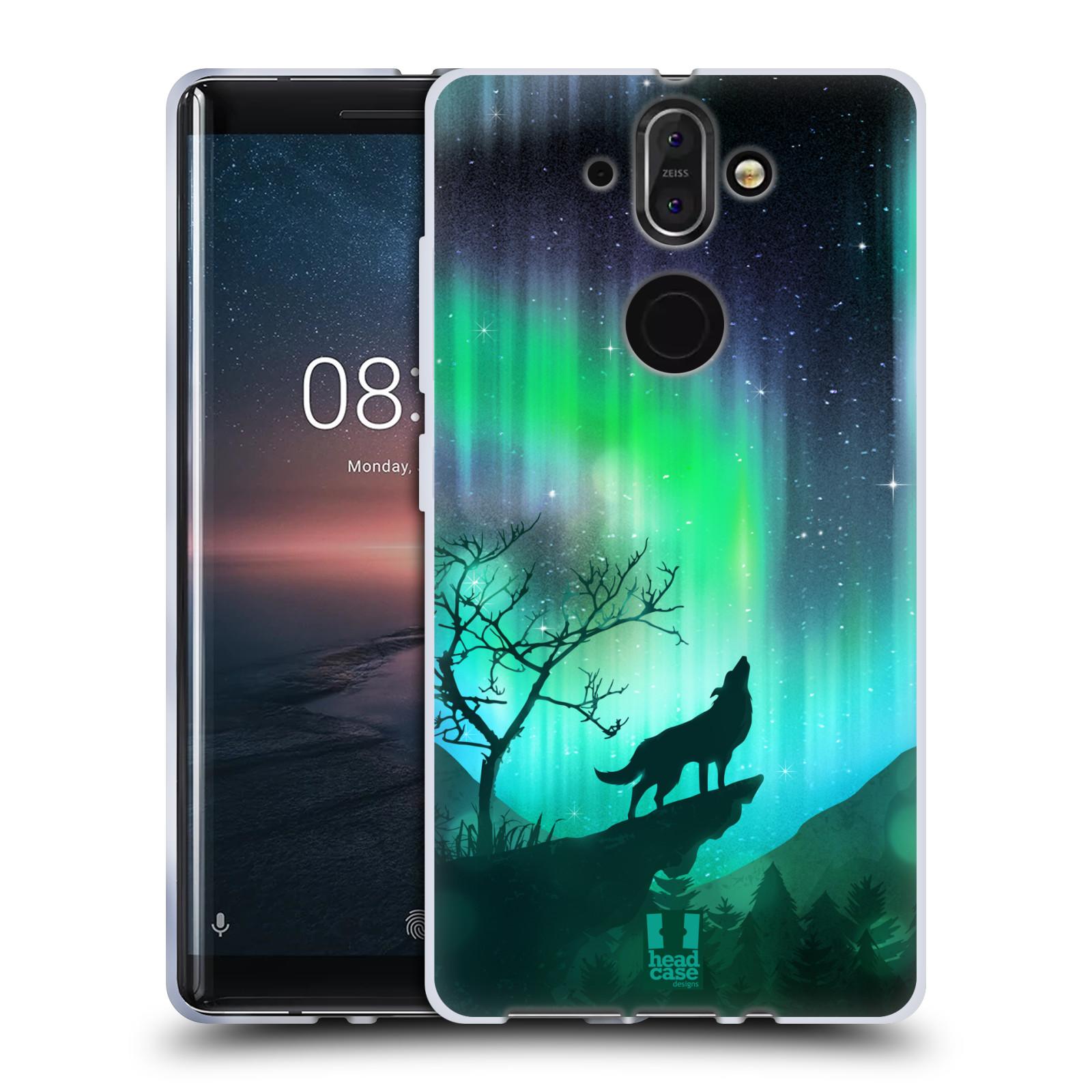 Silikonové pouzdro na mobil Nokia 8 Sirocco - Head Case - POLÁRNÍ ZÁŘE VLK (Silikonový kryt či obal na mobilní telefon Nokia 8 Sirocco s motivem POLÁRNÍ ZÁŘE VLK)