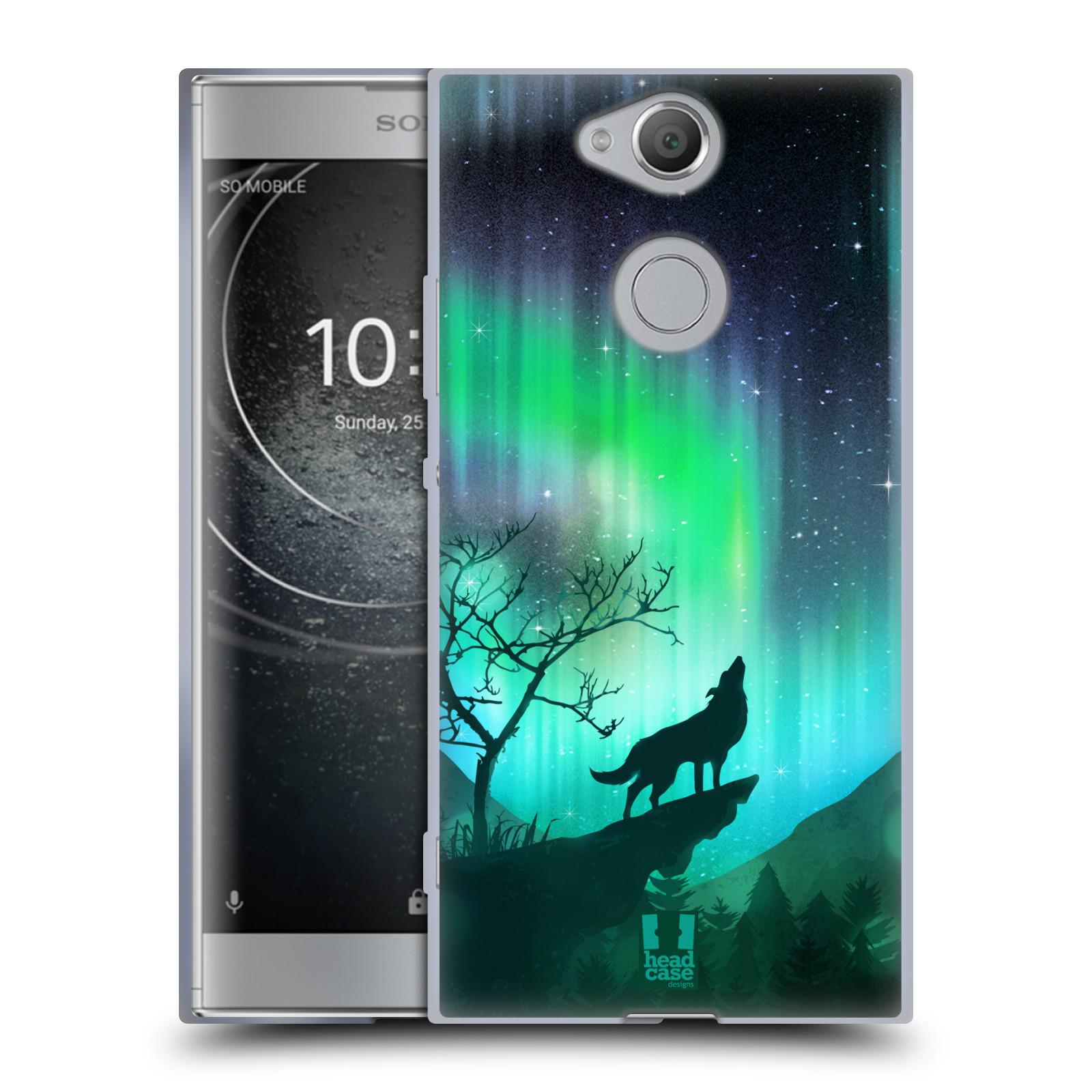 Silikonové pouzdro na mobil Sony Xperia XA2 - Head Case - POLÁRNÍ ZÁŘE VLK (Silikonový kryt či obal na mobilní telefon Sony Xperia XA2 H4113 s motivem POLÁRNÍ ZÁŘE VLK)