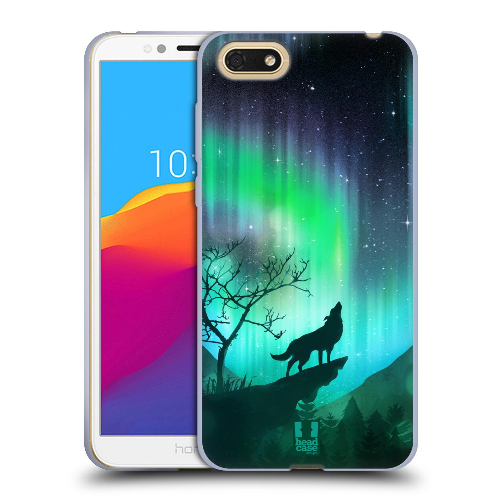 Silikonové pouzdro na mobil Huawei Y5 2018 - Head Case - POLÁRNÍ ZÁŘE VLK