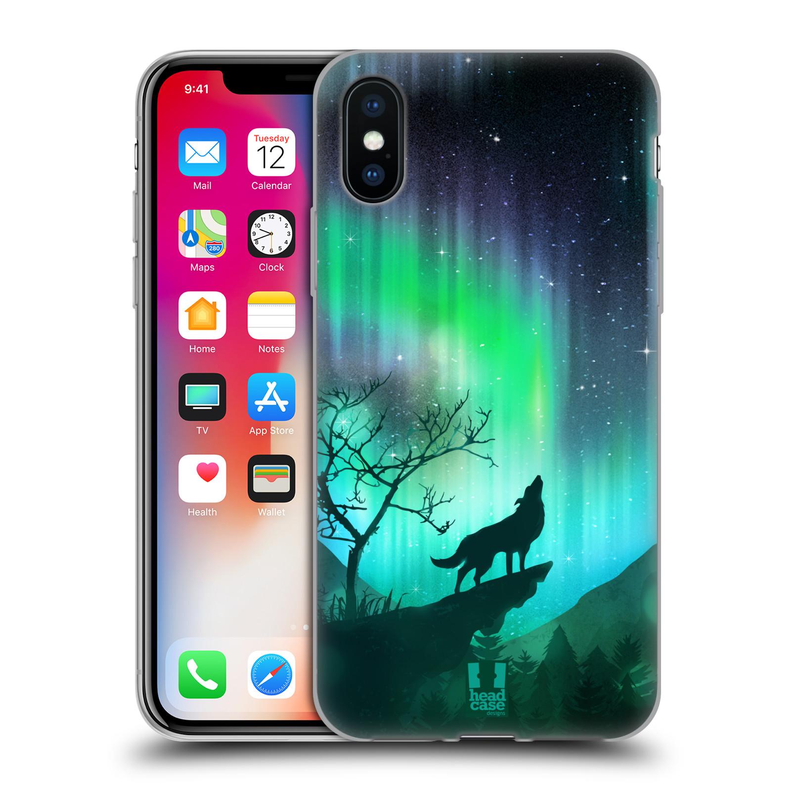 Silikonové pouzdro na mobil Apple iPhone XS - Head Case - POLÁRNÍ ZÁŘE VLK