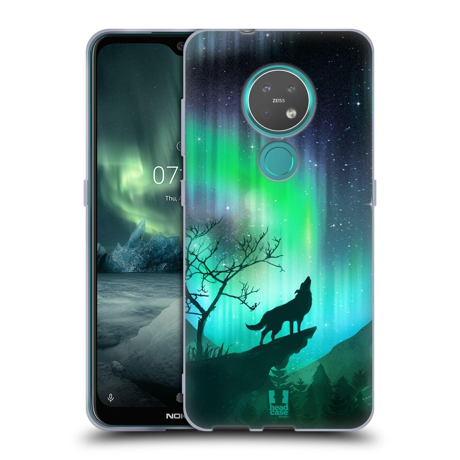 Silikonové pouzdro na mobil Nokia 6.2 - Head Case - POLÁRNÍ ZÁŘE VLK
