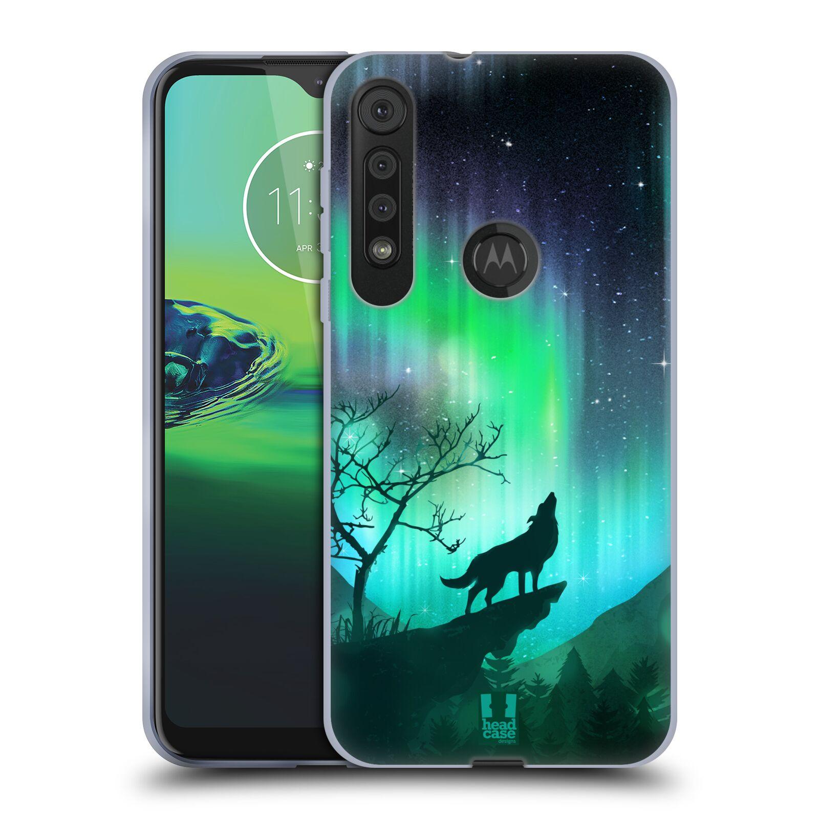 Silikonové pouzdro na mobil Motorola One Macro - Head Case - POLÁRNÍ ZÁŘE VLK