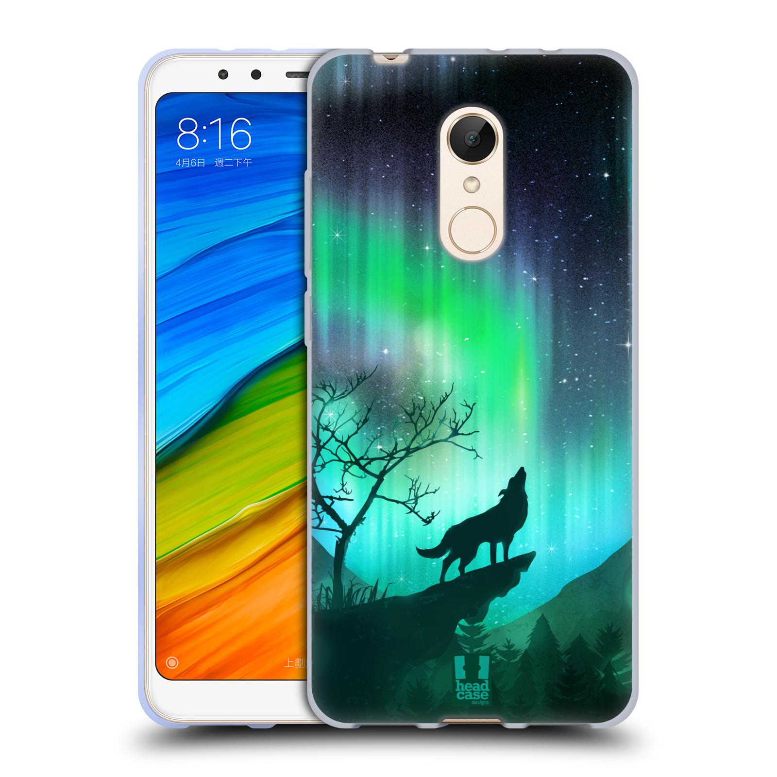 Silikonové pouzdro na mobil Xiaomi Redmi 5 - Head Case - POLÁRNÍ ZÁŘE VLK (Silikonový kryt či obal na mobilní telefon Xiaomi Redmi 5 s motivem POLÁRNÍ ZÁŘE VLK)