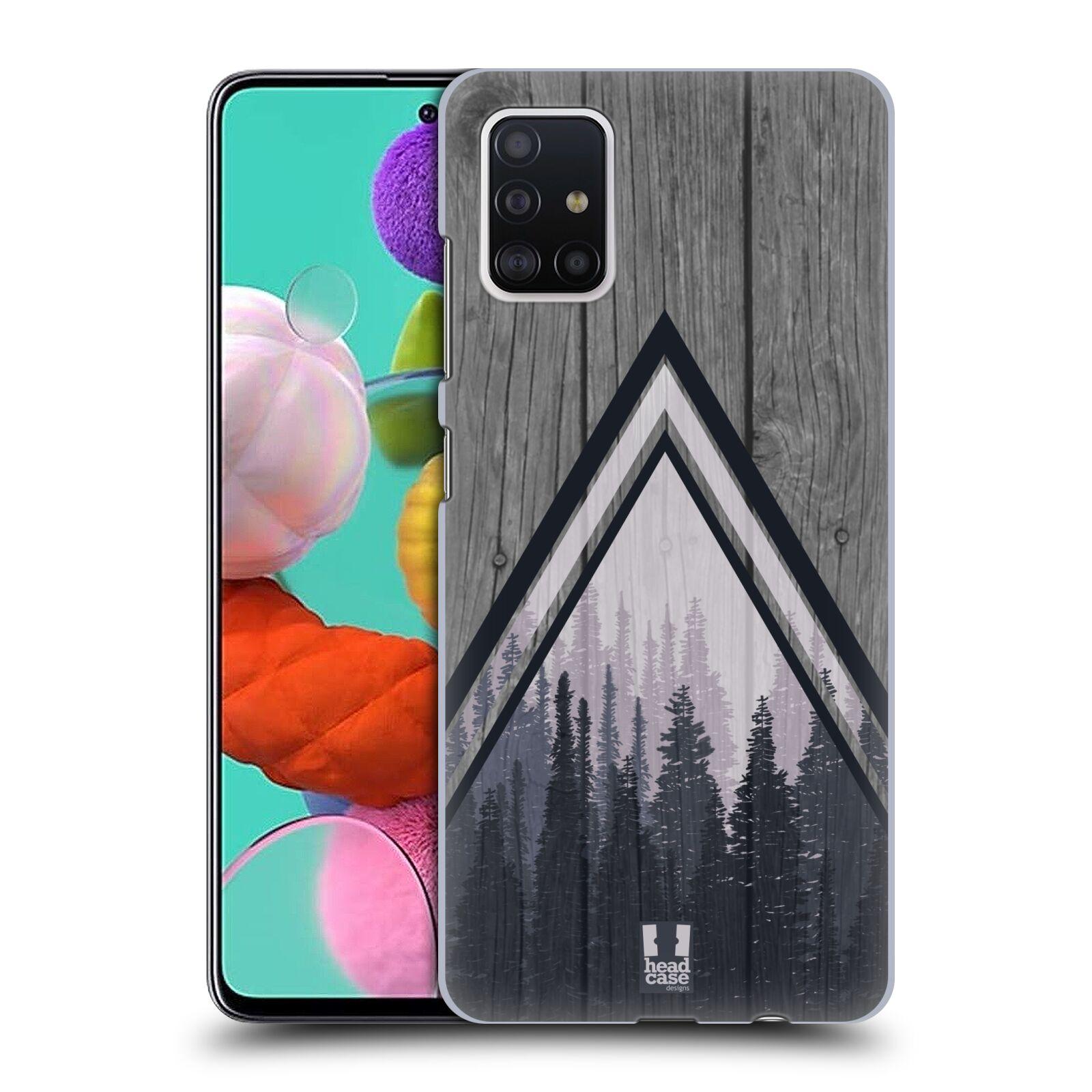 Plastové pouzdro na mobil Samsung Galaxy A51 - Head Case - Dřevo a temný les