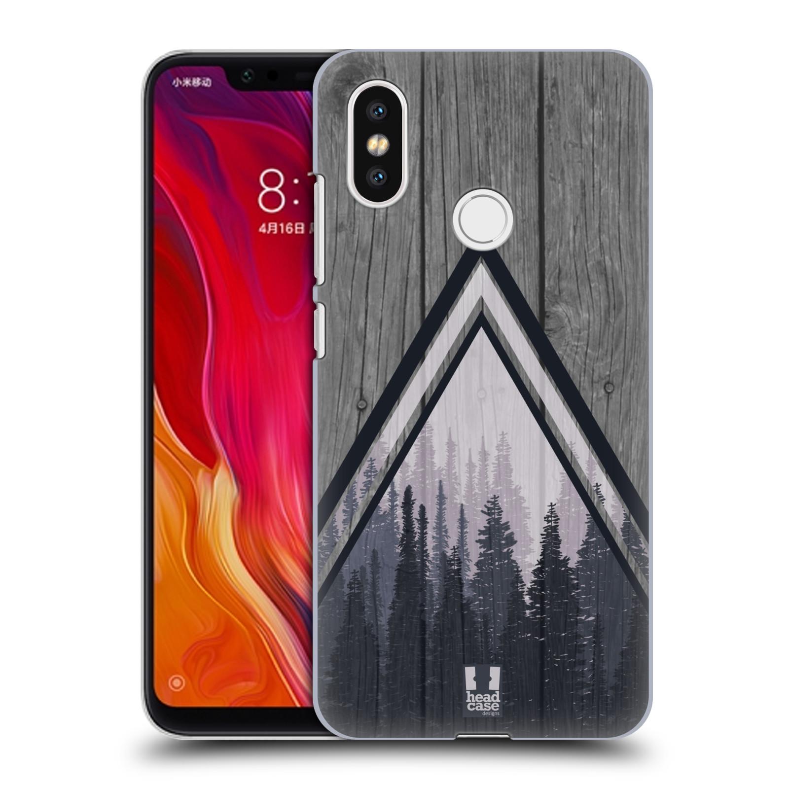 Plastové pouzdro na mobil Xiaomi Mi8 - Head Case - Dřevo a temný les