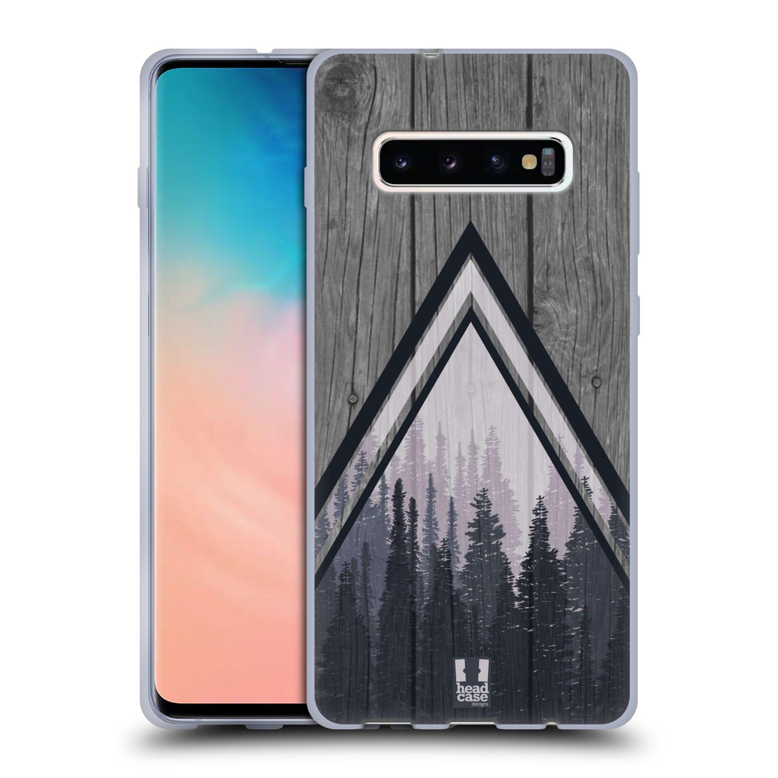 Silikonové pouzdro na mobil Samsung Galaxy S10 Plus - Head Case - Dřevo a temný les