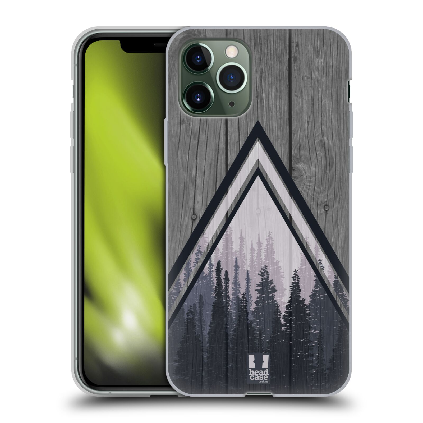 koupit iphone - Silikonové pouzdro na mobil Apple iPhone 11 Pro - Head Case - Dřevo a temný les