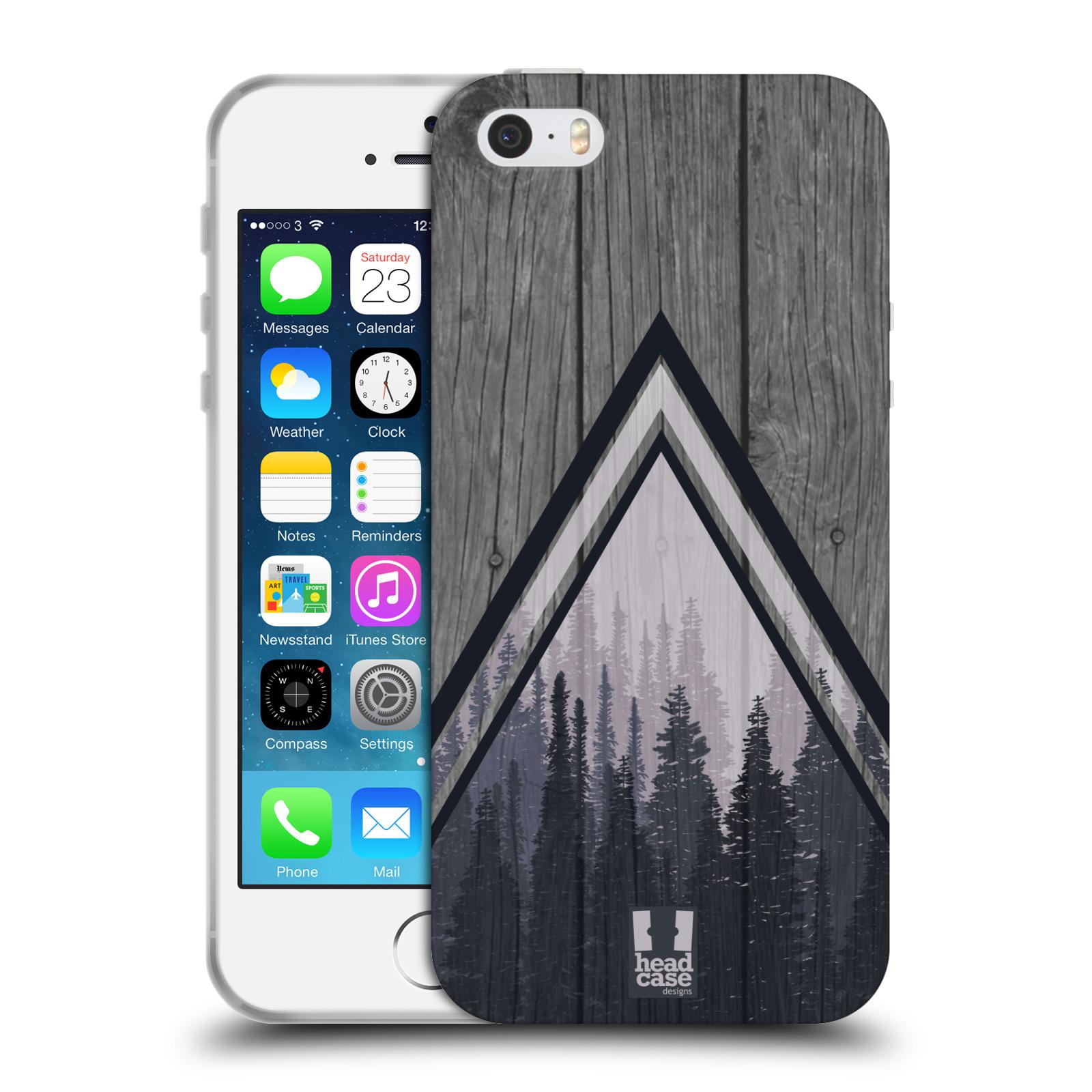 Silikonové pouzdro na mobil Apple iPhone 5, 5S, SE - Head Case - Dřevo a temný les
