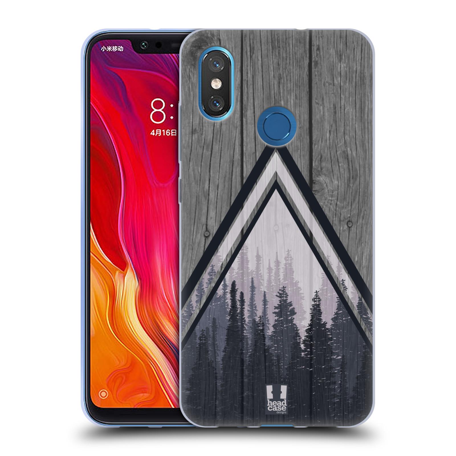 Silikonové pouzdro na mobil Xiaomi Mi8 - Head Case - Dřevo a temný les