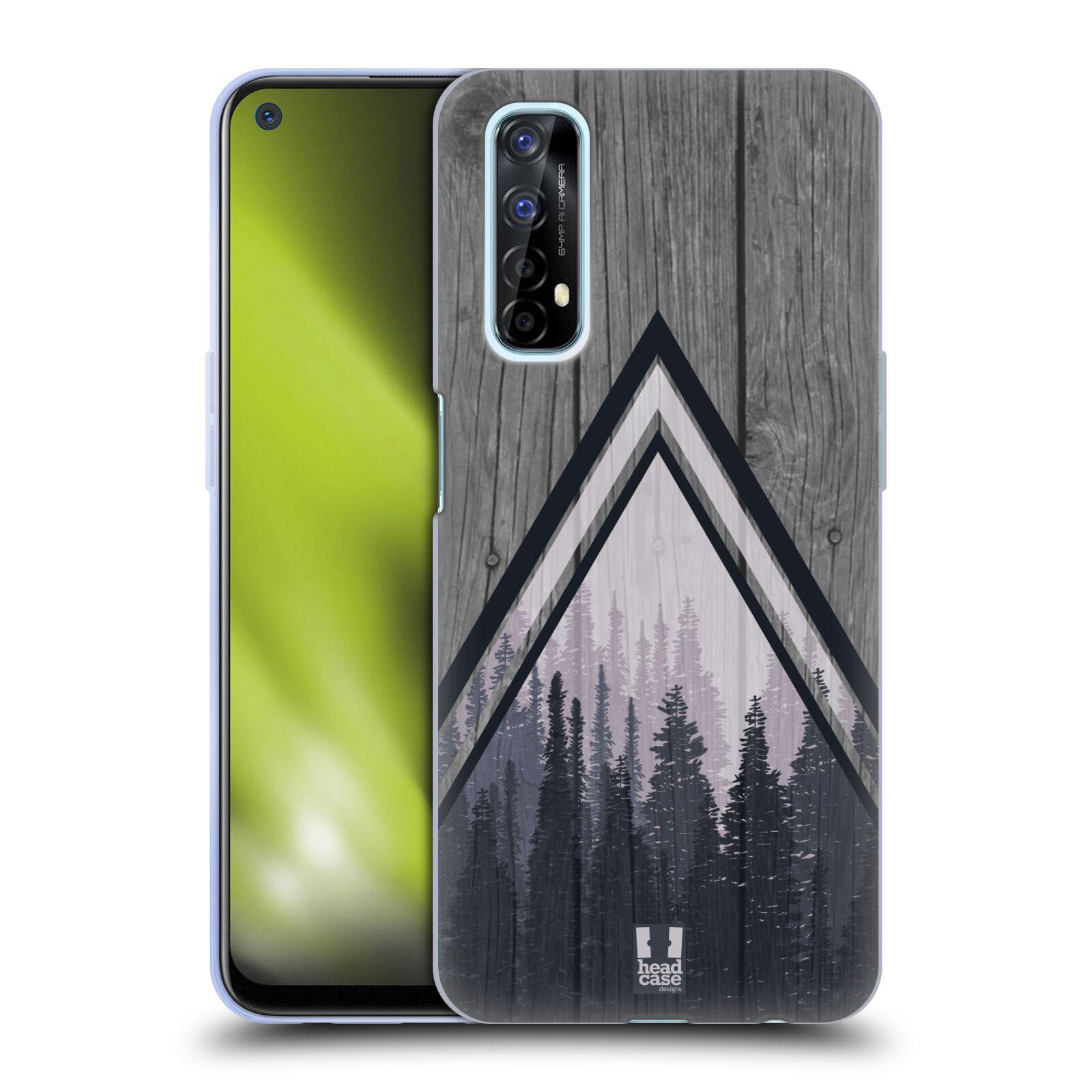 Silikonové pouzdro na mobil Realme 7 - Head Case - Dřevo a temný les