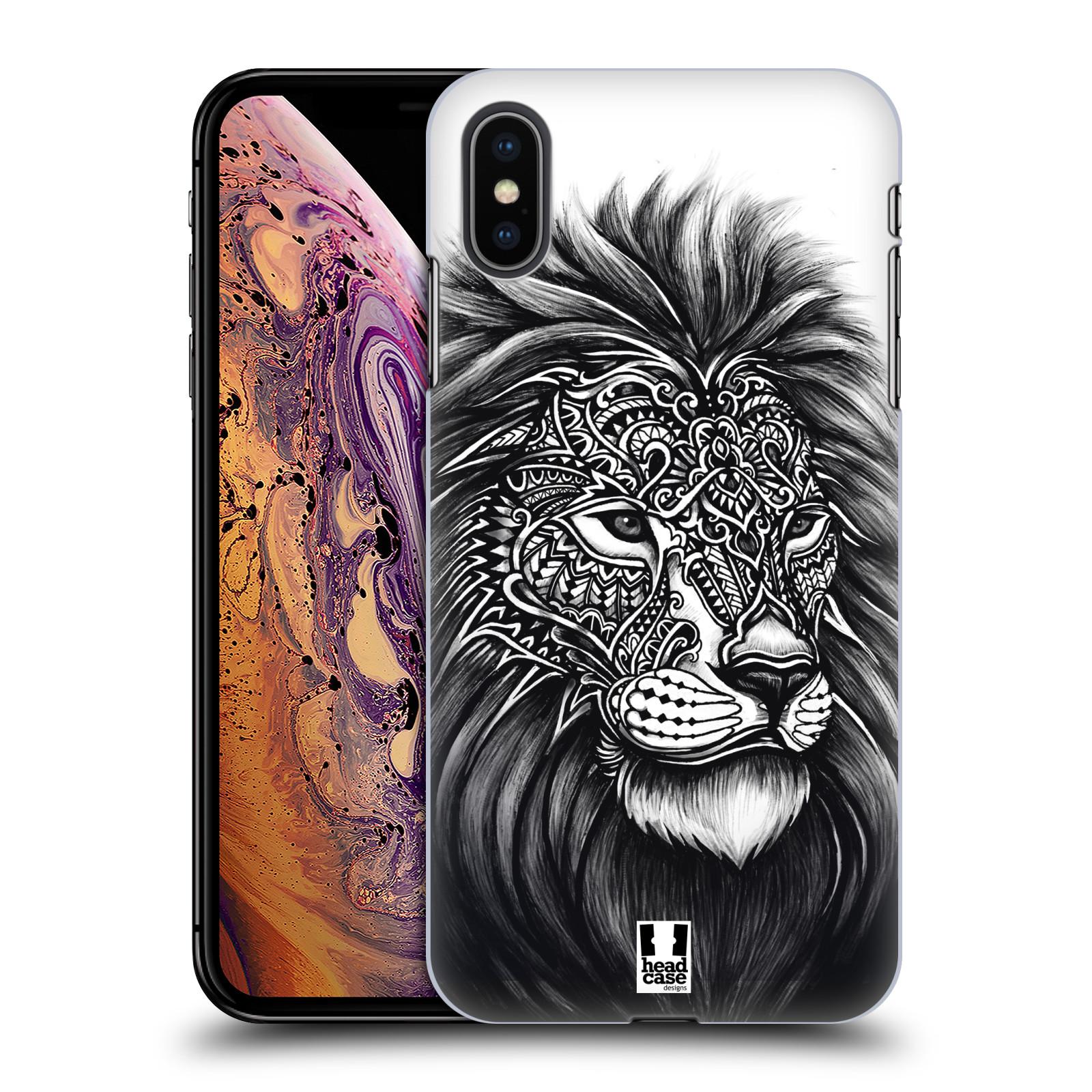 Plastové pouzdro na mobil Apple iPhone XS Max - Head Case - Zdobený Lev
