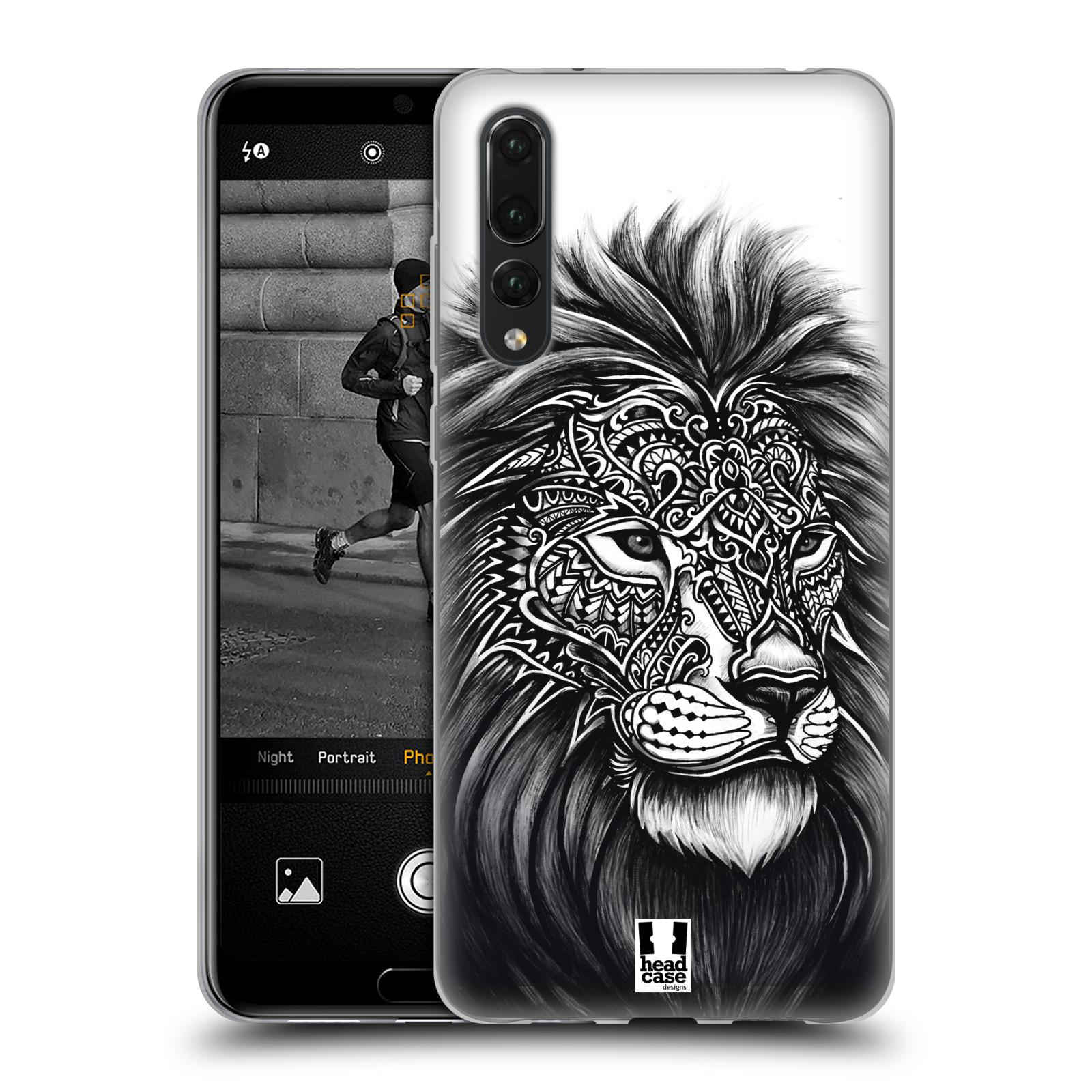 Silikonové pouzdro na mobil Huawei P20 Pro - Head Case - Zdobený Lev ... 1a5cee830bd
