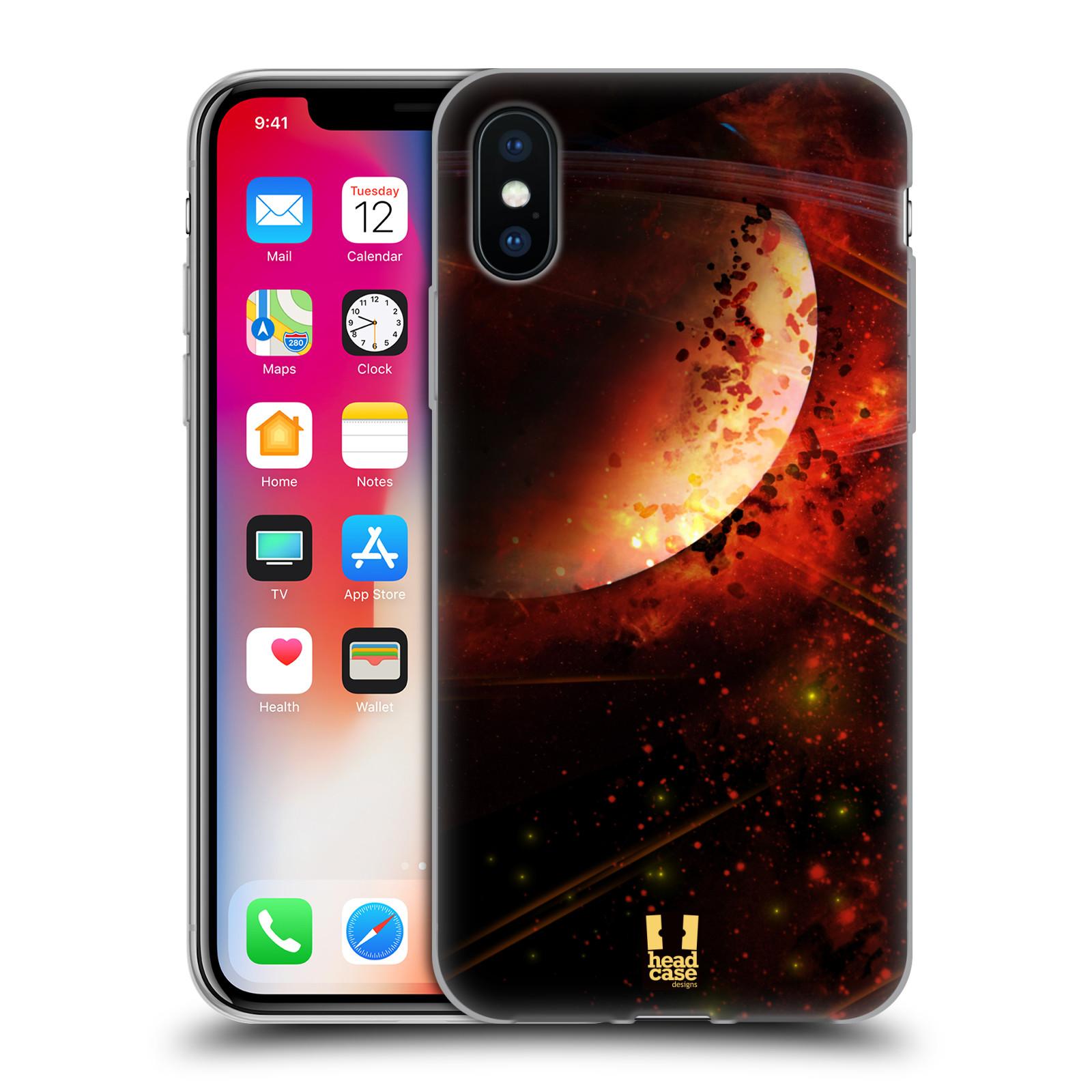 Silikonové pouzdro na mobil Apple iPhone XS - Head Case - SATURN