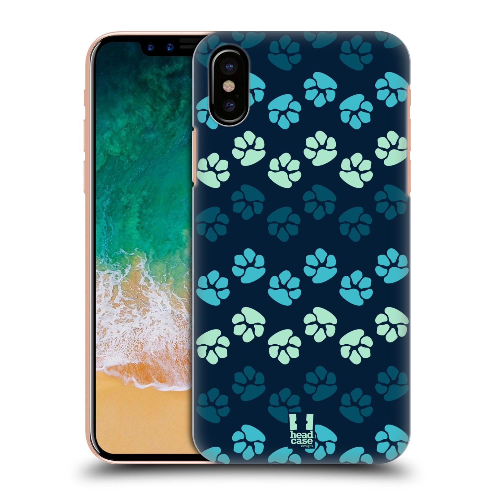 Plastové pouzdro na mobil Apple iPhone X - Head Case - TLAPKY MODRÉ (Plastový kryt či obal na mobilní telefon Apple iPhone X s motivem TLAPKY MODRÉ)
