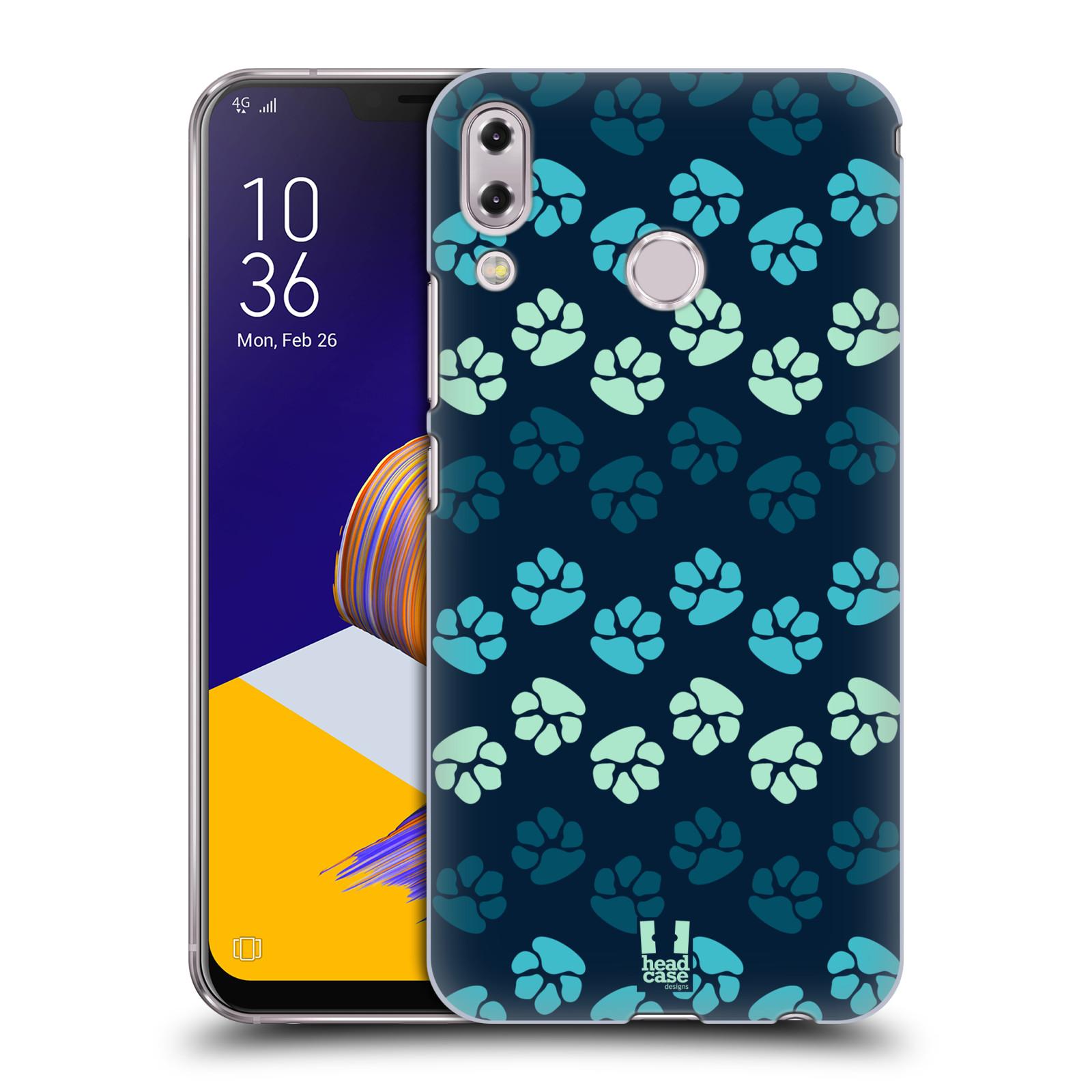 Plastové pouzdro na mobil Asus Zenfone 5z ZS620KL - Head Case - TLAPKY MODRÉ (Plastový kryt či obal na mobilní telefon Asus Zenfone 5z (ZS620KL) s motivem TLAPKY MODRÉ)