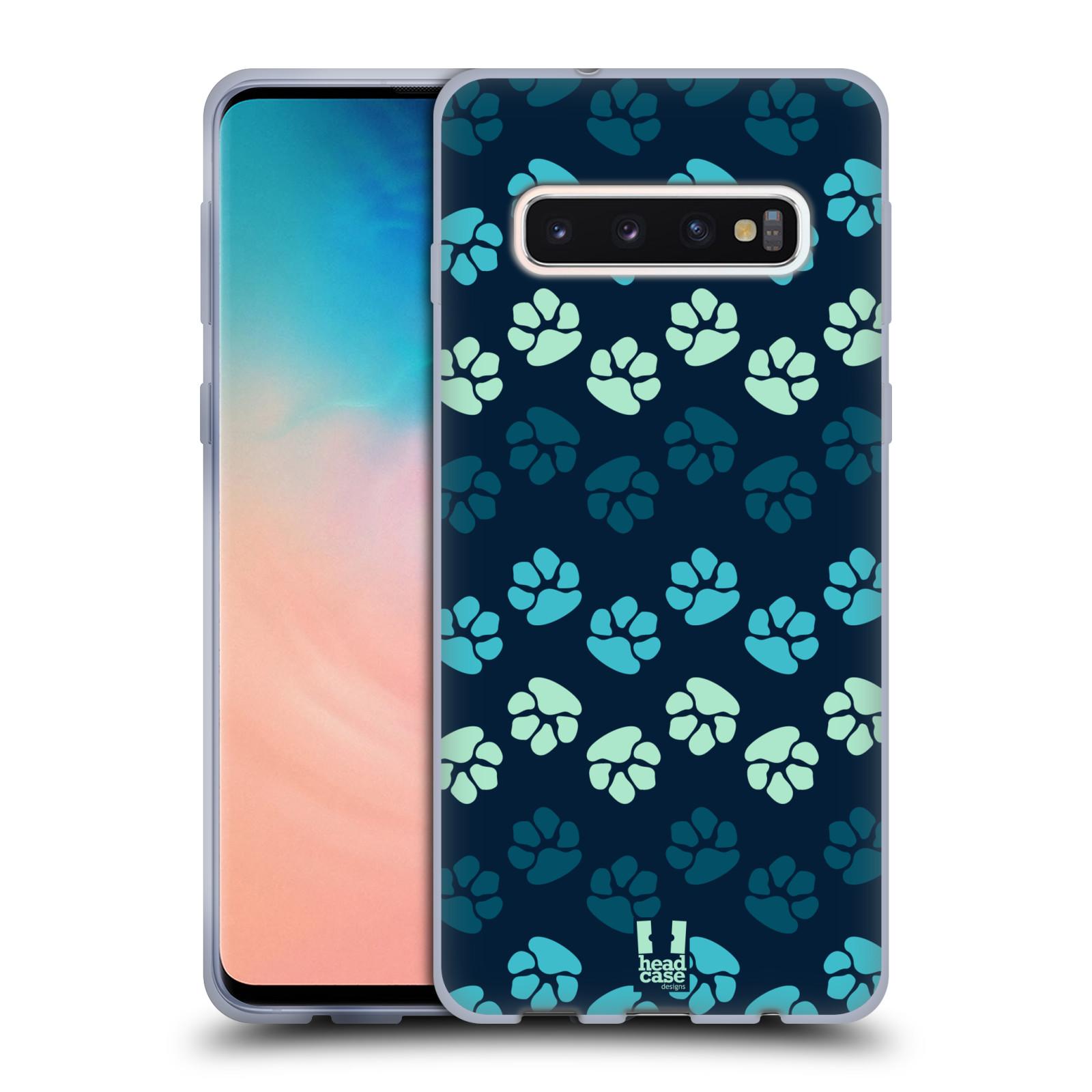 Silikonové pouzdro na mobil Samsung Galaxy S10 - Head Case - TLAPKY MODRÉ