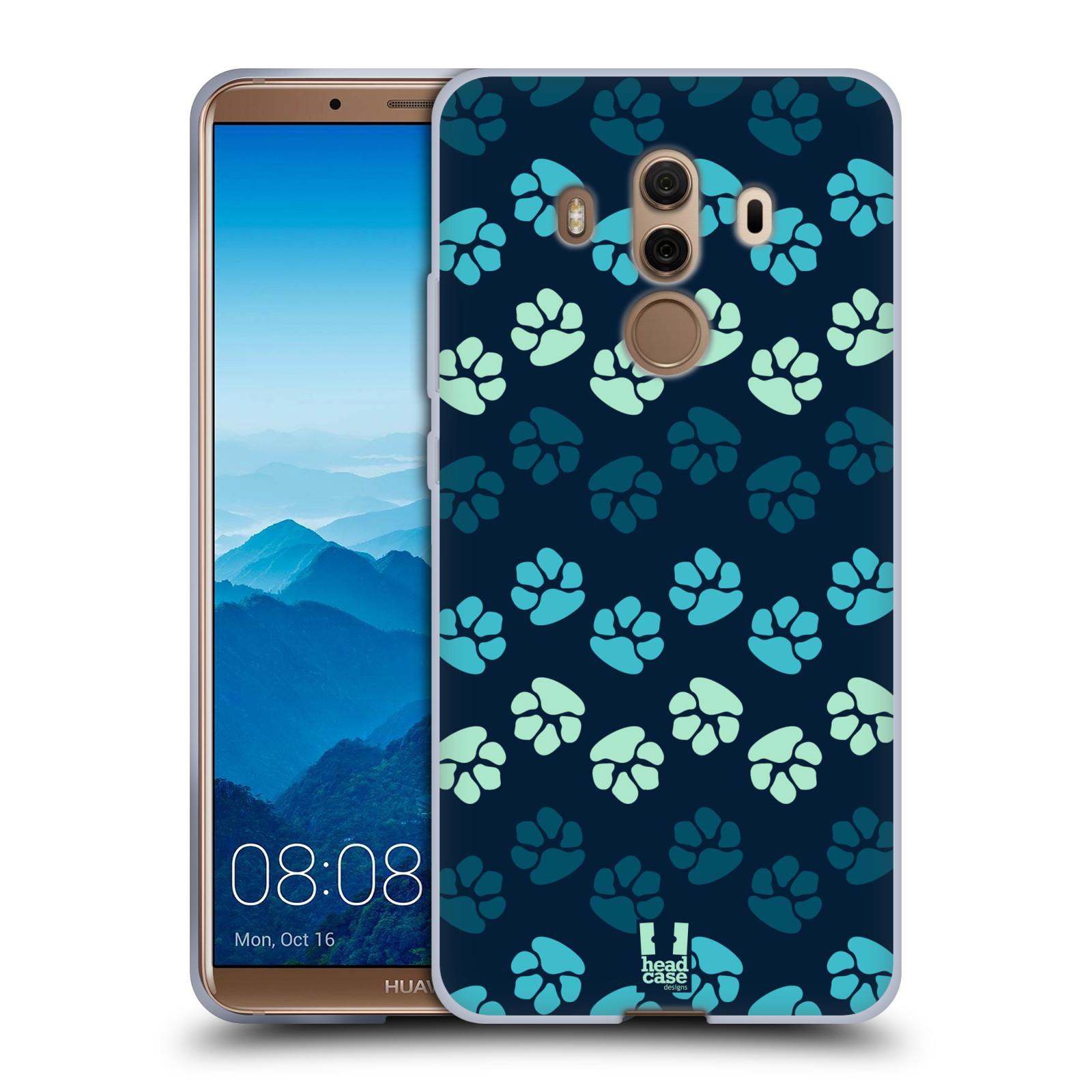 Silikonové pouzdro na mobil Huawei Mate 10 Pro - Head Case - TLAPKY MODRÉ