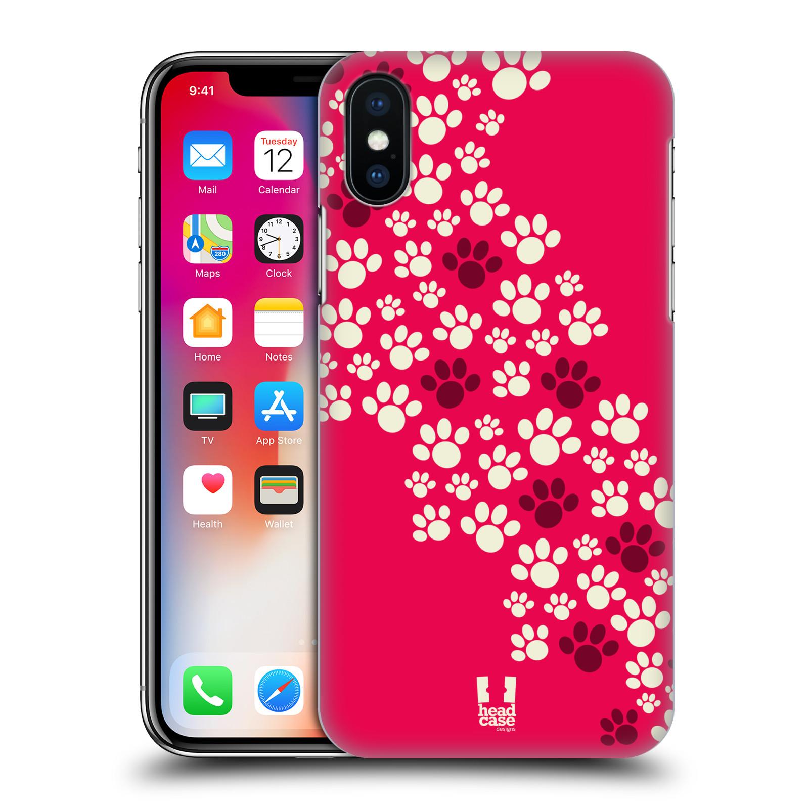 Plastové pouzdro na mobil Apple iPhone X - Head Case - TLAPKY RŮŽOVÉ