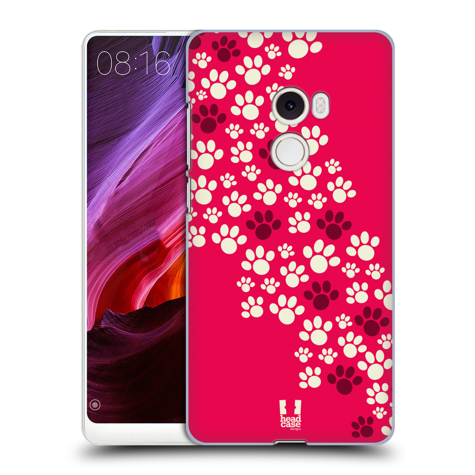 Plastové pouzdro na mobil Xiaomi Mi Mix 2 - Head Case - TLAPKY RŮŽOVÉ
