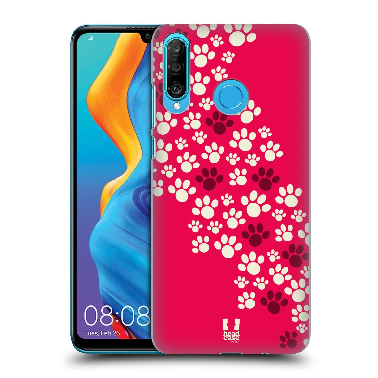 Plastové pouzdro na mobil Huawei P30 Lite - Head Case - TLAPKY RŮŽOVÉ