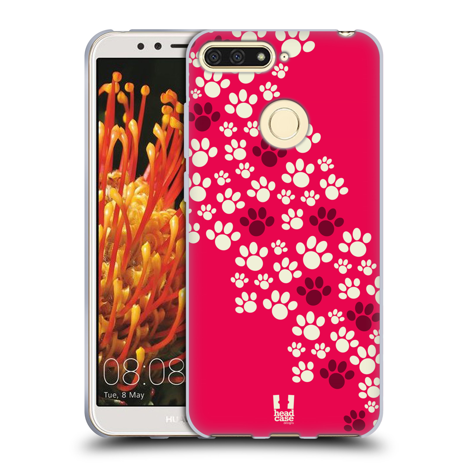 Silikonové pouzdro na mobil Huawei Y6 Prime (2018) - Head Case - TLAPKY  RŮŽOVÉ aa561f5a4fd