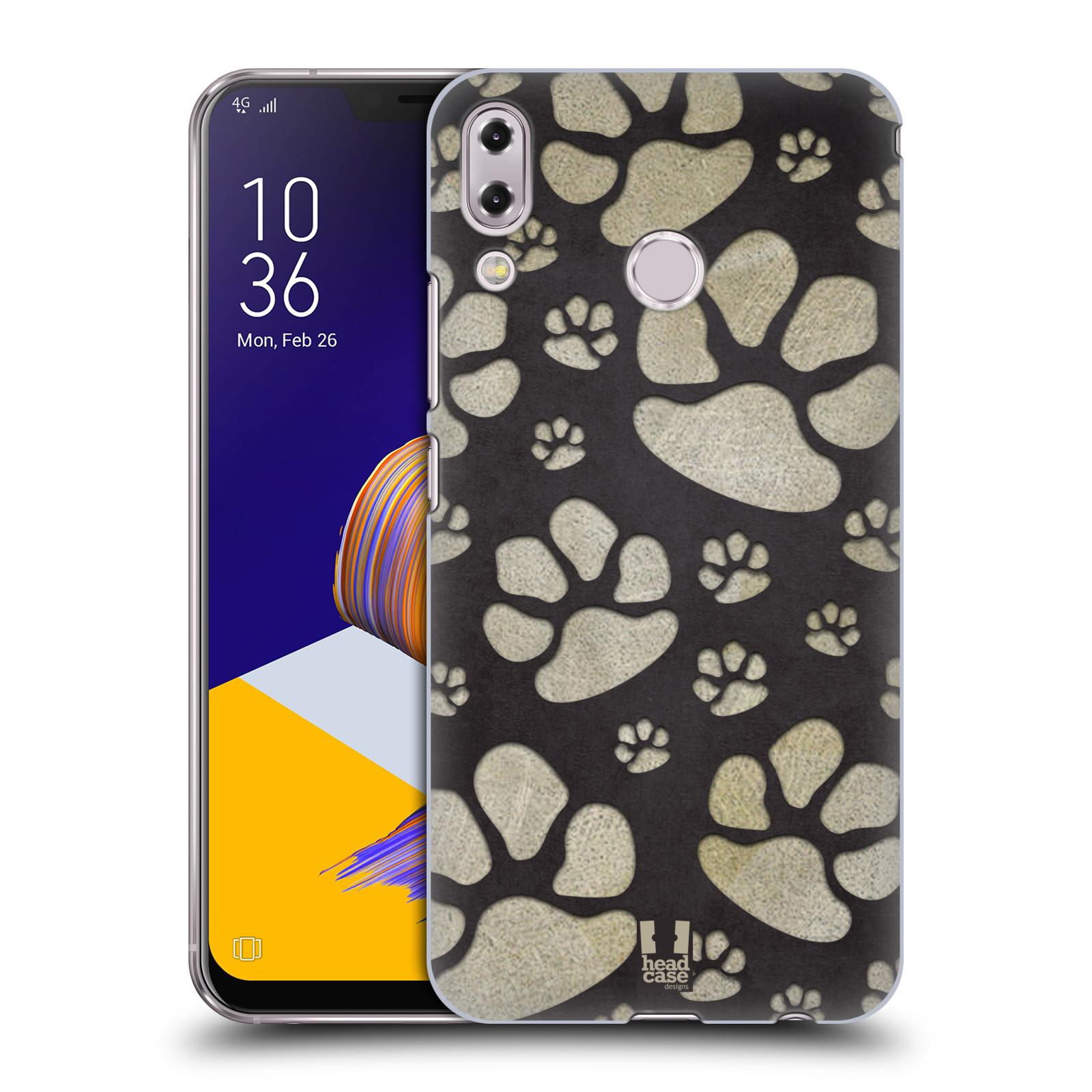 Plastové pouzdro na mobil Asus Zenfone 5z ZS620KL - Head Case - TLAPKY ŠEDÉ (Plastový kryt či obal na mobilní telefon Asus Zenfone 5z (ZS620KL) s motivem TLAPKY ŠEDÉ)
