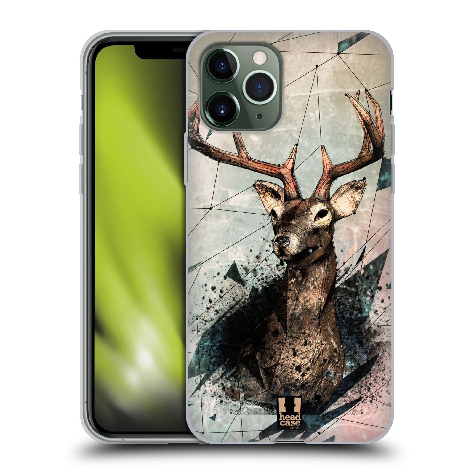 bazar obaly iphone 8 plus - Silikonové pouzdro na mobil Apple iPhone 11 Pro - Head Case - POLYSKETCH JELEN