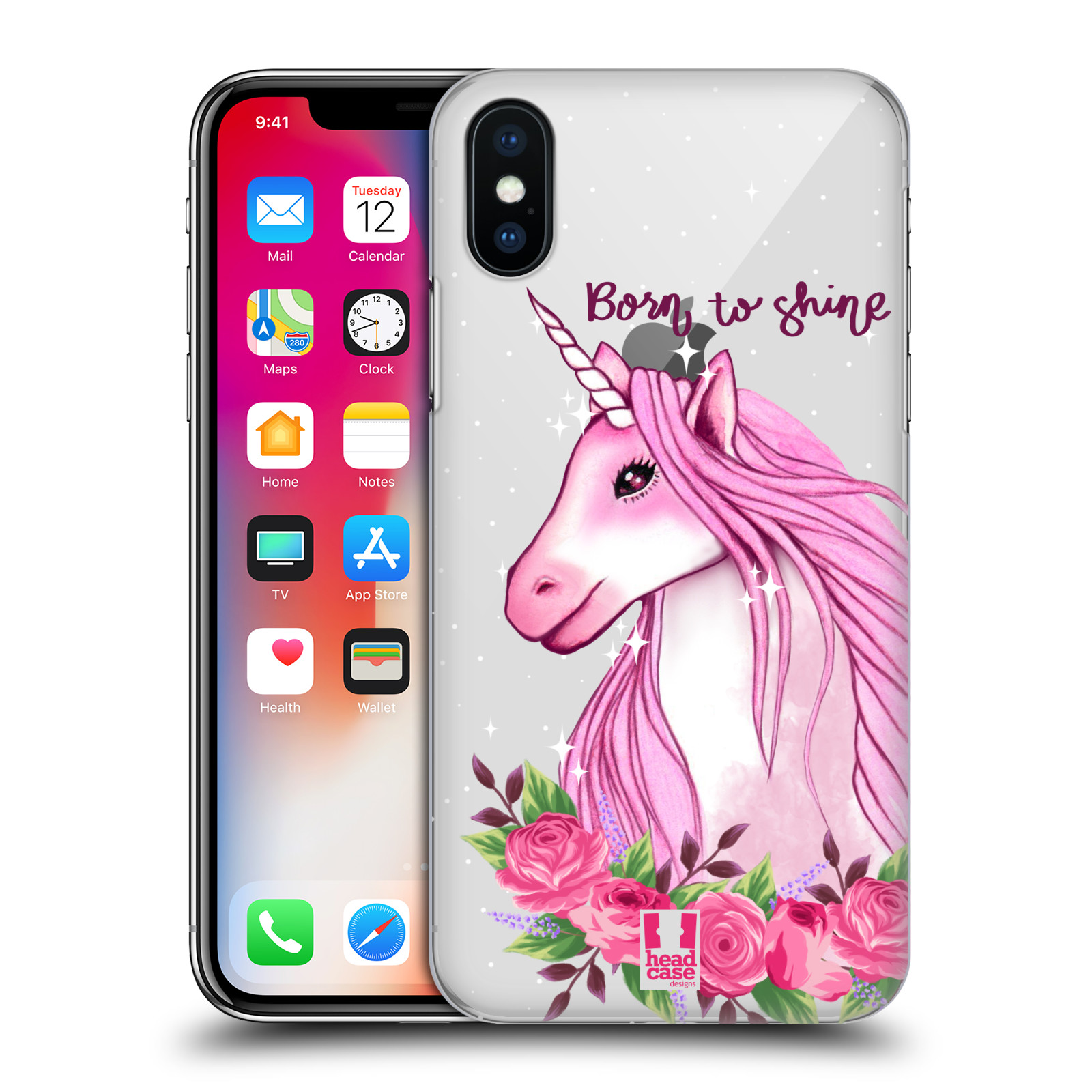 Plastové pouzdro na mobil Apple iPhone X - Head Case - Jednorožec - Born to shine