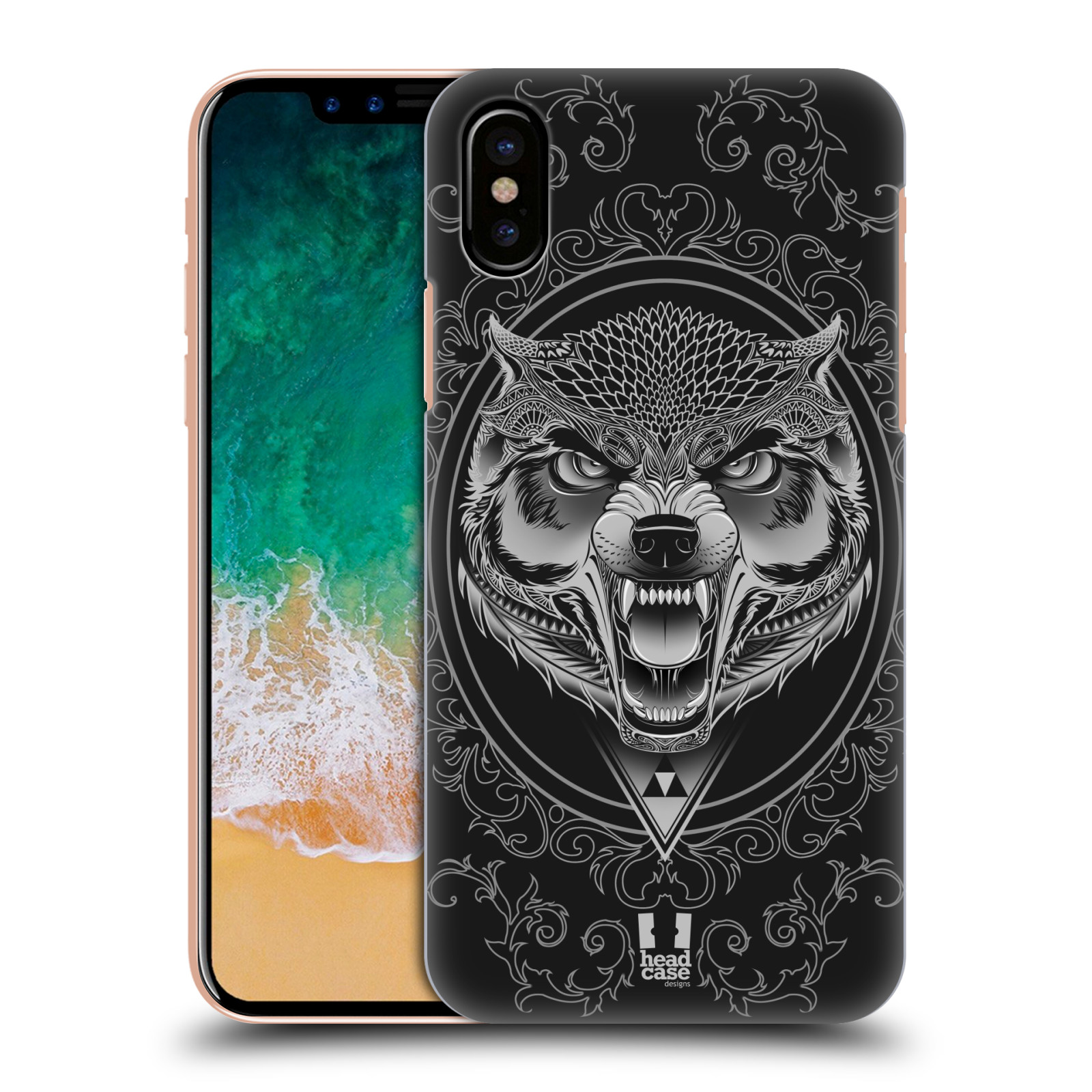 Plastové pouzdro na mobil Apple iPhone X - Head Case - Krutý vlk