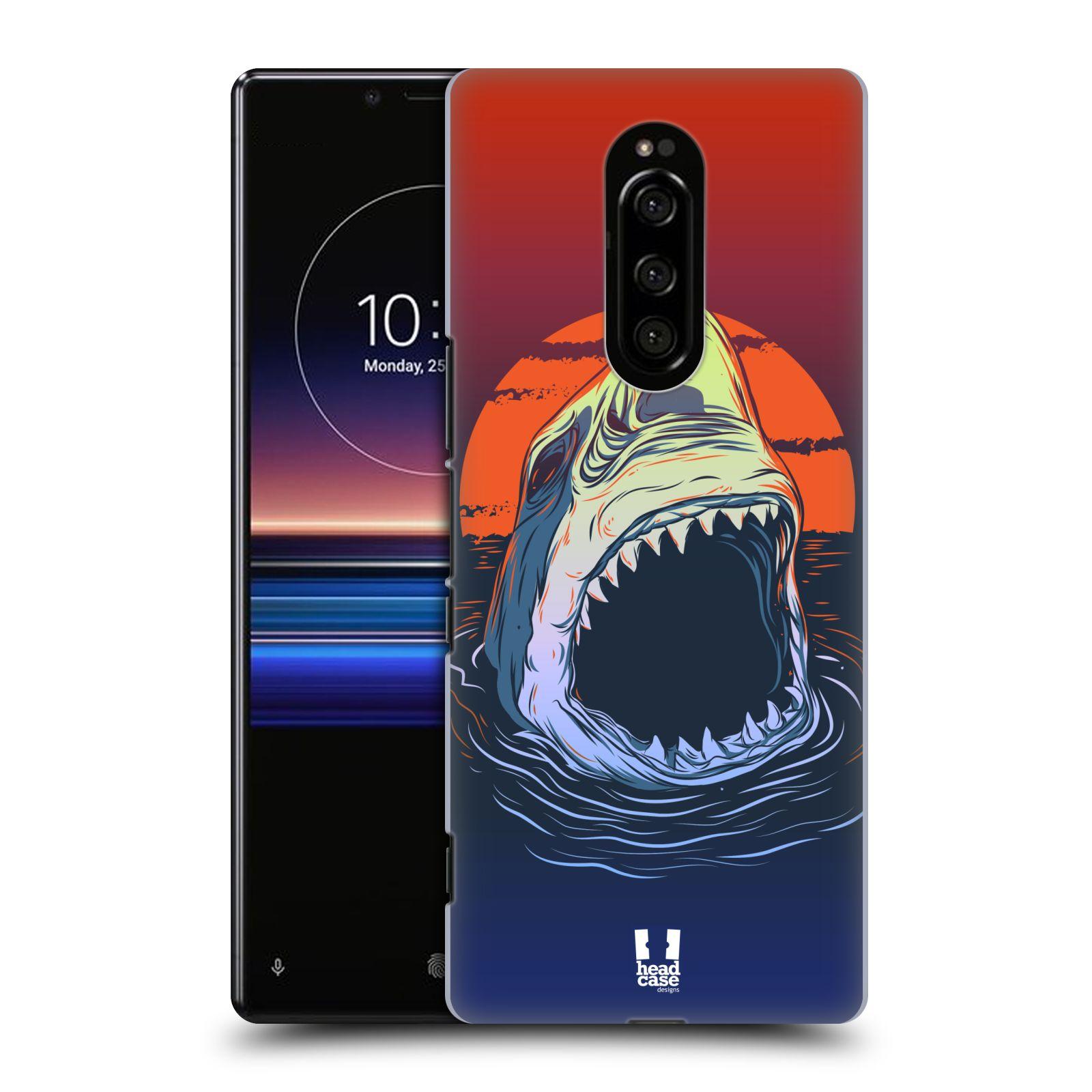 Plastové pouzdro na mobil Sony Xperia 1 - Head Case - HLADOVÝ ŽRALOK (Plastový kryt, pouzdro, obal na mobilní telefon Sony Xperia 1 (Sony Xperia XZ4) s motivem HLADOVÝ ŽRALOK)