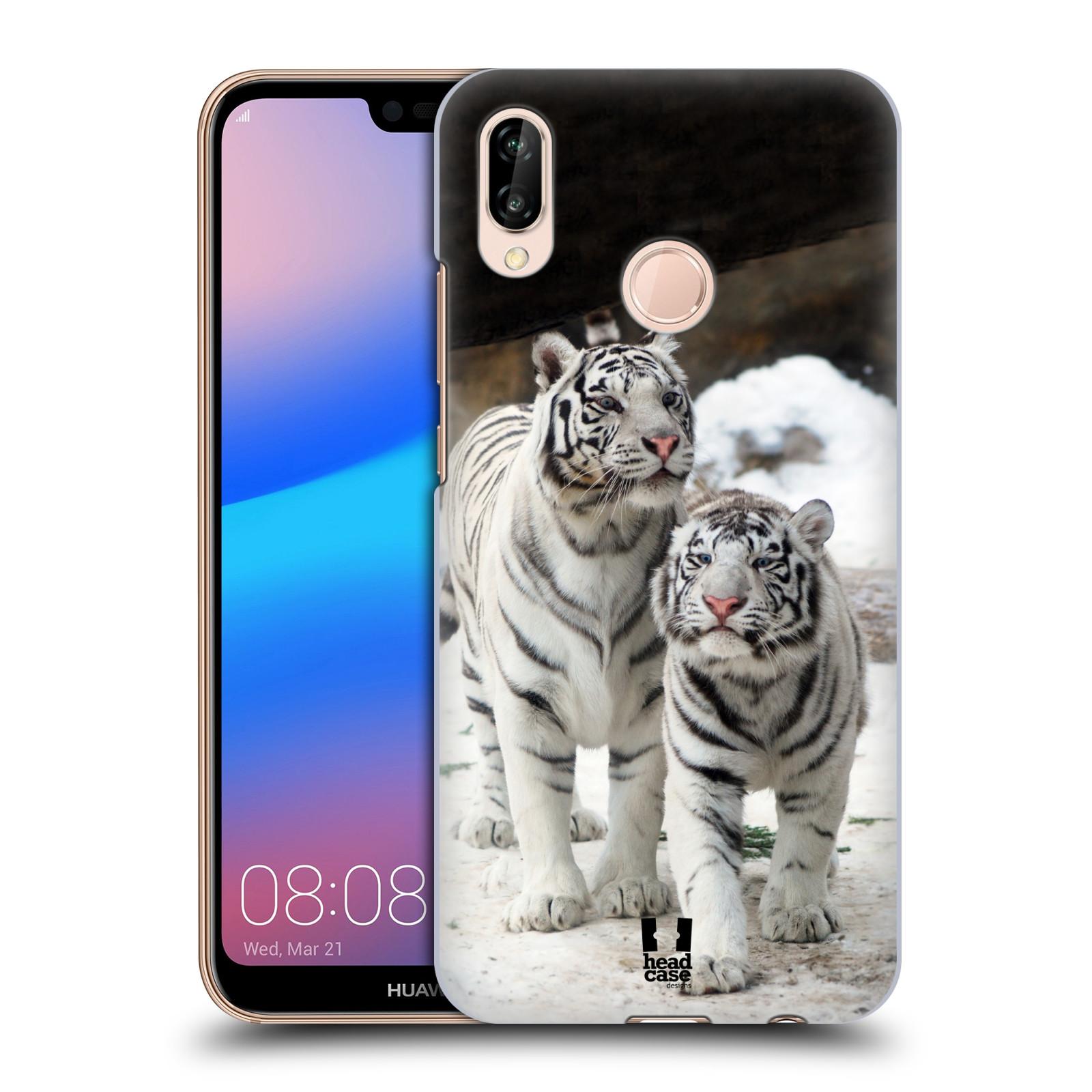 Plastové pouzdro na mobil Huawei P20 Lite - Head Case - BÍLÍ TYGŘI