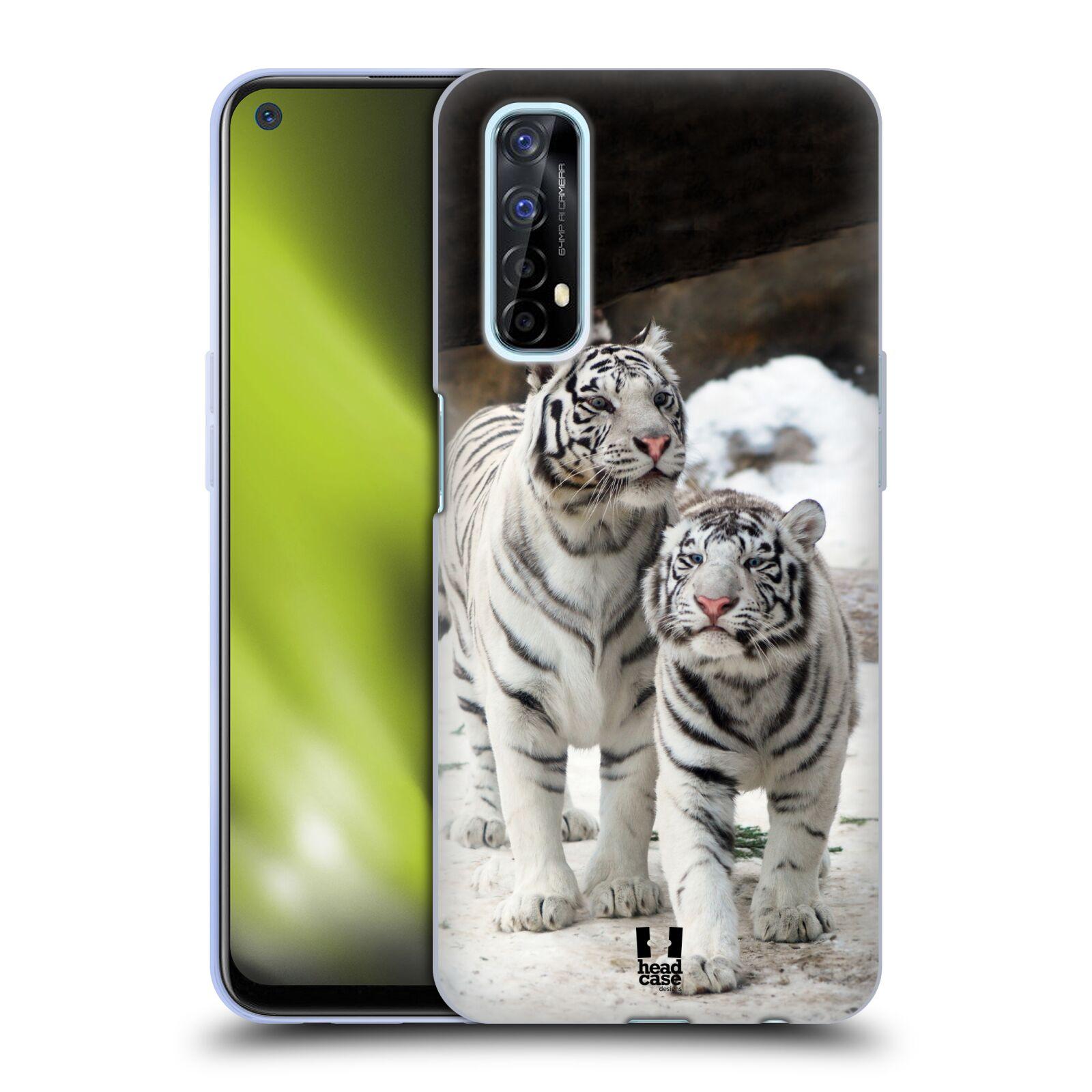 Silikonové pouzdro na mobil Realme 7 - Head Case - BÍLÍ TYGŘI