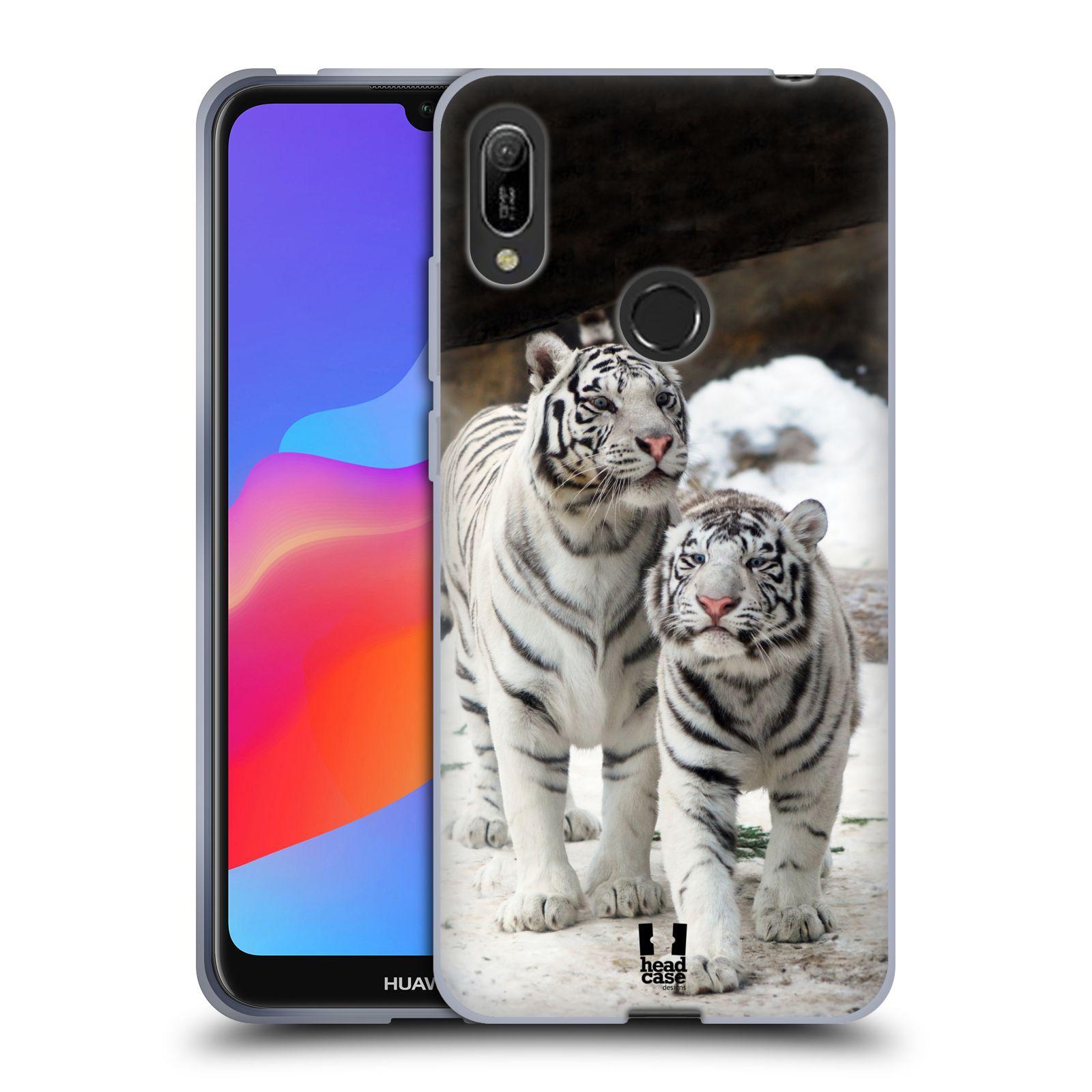 Silikonové pouzdro na mobil Huawei Y6 (2019) - Head Case - BÍLÍ TYGŘI