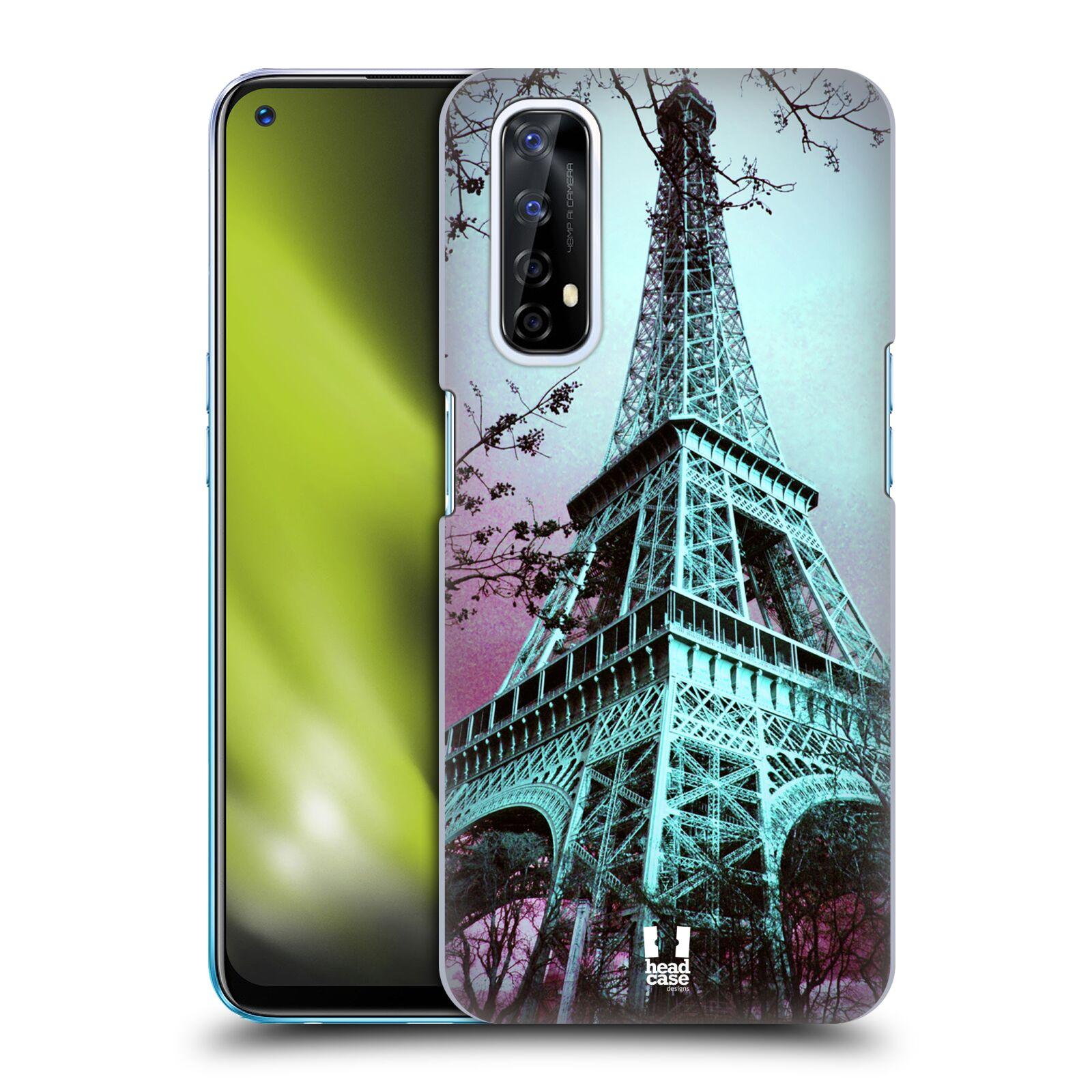 Plastové pouzdro na mobil Realme 7 - Head Case - RŮŽOVOMODRÁ AIFELOVKA
