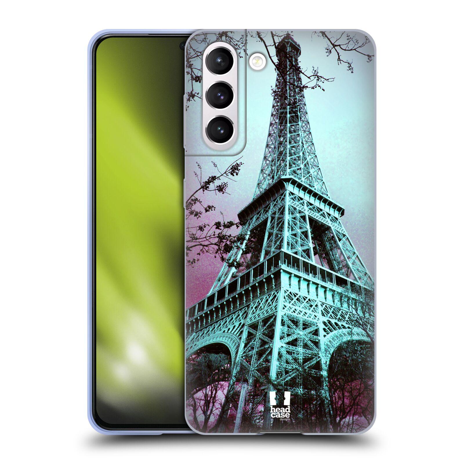 Silikonové pouzdro na mobil Samsung Galaxy S21 5G - Head Case -  RŮŽOVOMODRÁ AIFELOVKA