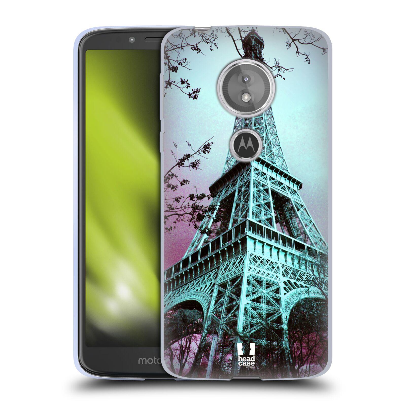 Silikonové pouzdro na mobil Motorola Moto E5 - Head Case -  RŮŽOVOMODRÁ AIFELOVKA