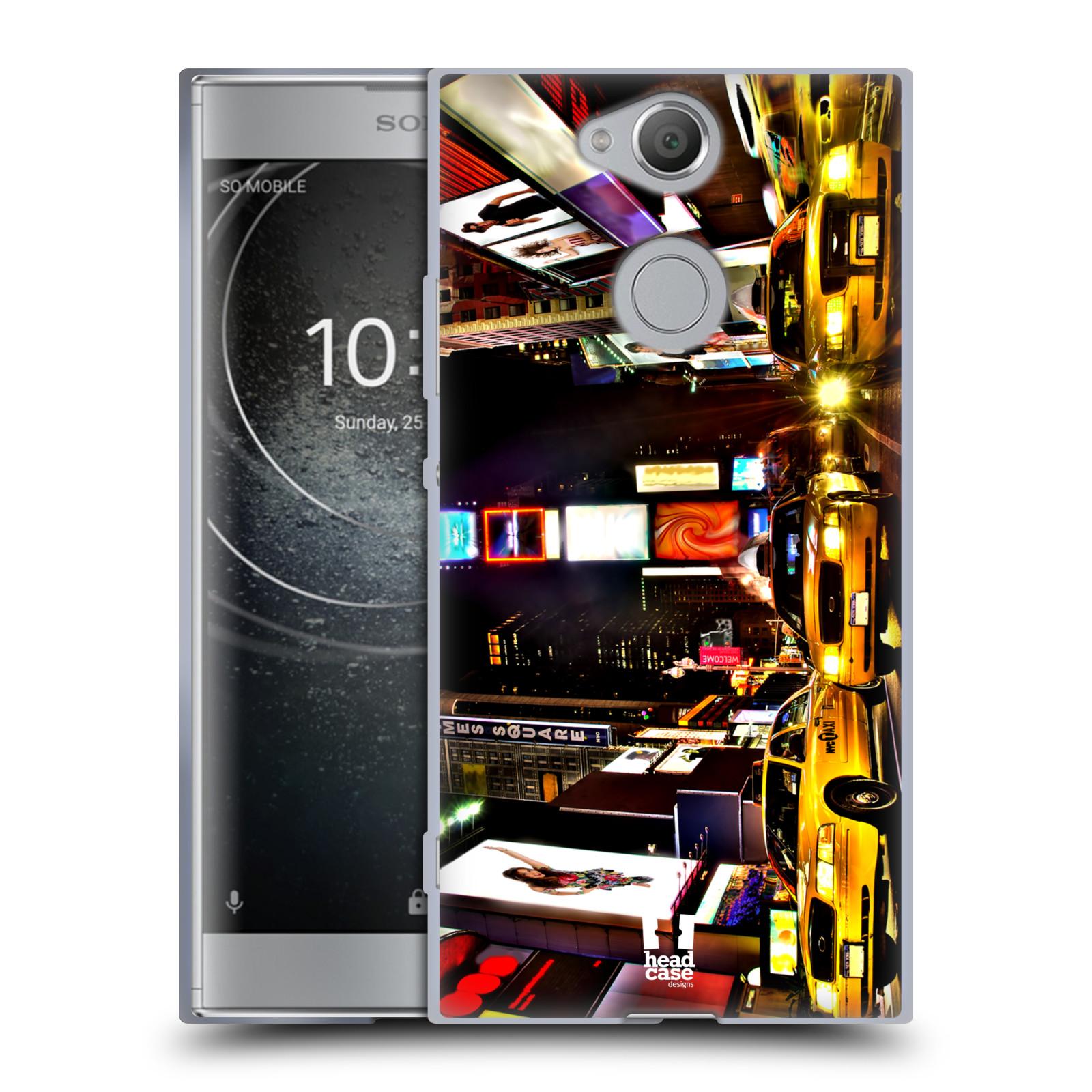 Silikonové pouzdro na mobil Sony Xperia XA2 - Head Case - NEW YORK TIMES SQUARE