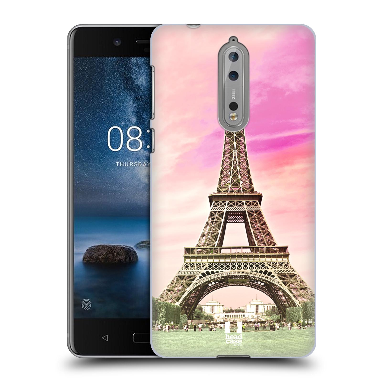 Plastové pouzdro na mobil Nokia 8 - Head Case - RŮŽOVÁ AIFELOVKA (Plastový kryt či obal na mobilní telefon Nokia 8 s motivem RŮŽOVÁ AIFELOVKA)