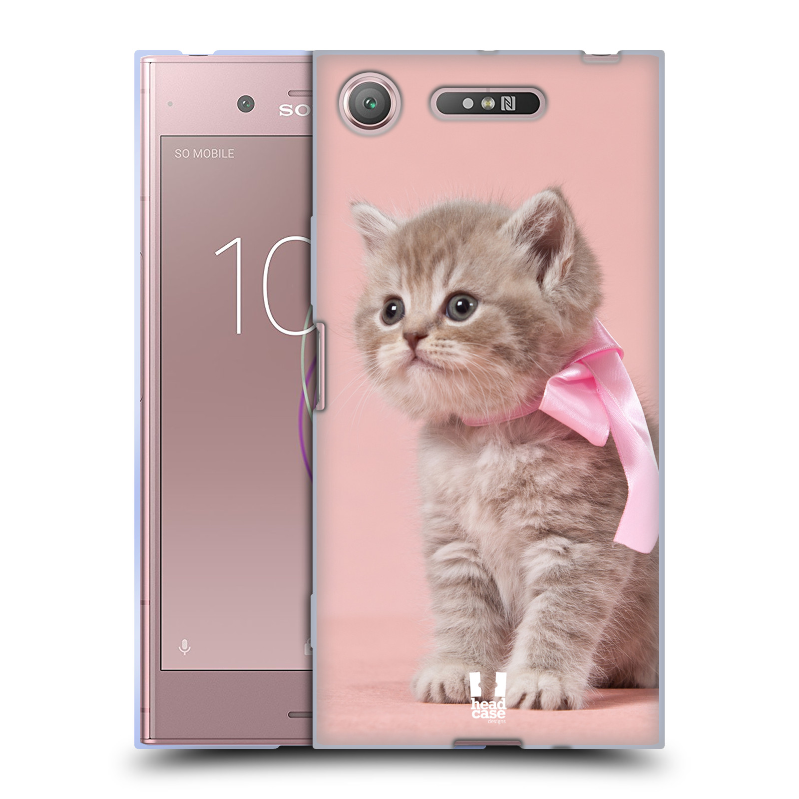 Silikonové pouzdro na mobil Sony Xperia XZ1 - Head Case - KOTĚ S MAŠLÍ
