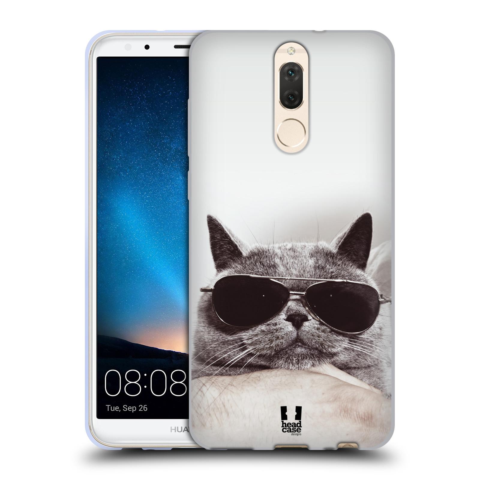 Silikonové pouzdro na mobil Huawei Mate 10 Lite - Head Case - KOTĚ S BRÝLEMI