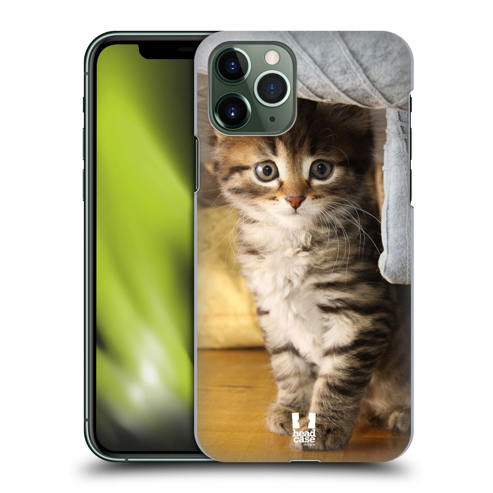 skleneny kryt iphone xr - Plastové pouzdro na mobil Apple iPhone 11 Pro - Head Case - ZVÍDAVÉ KOTĚ
