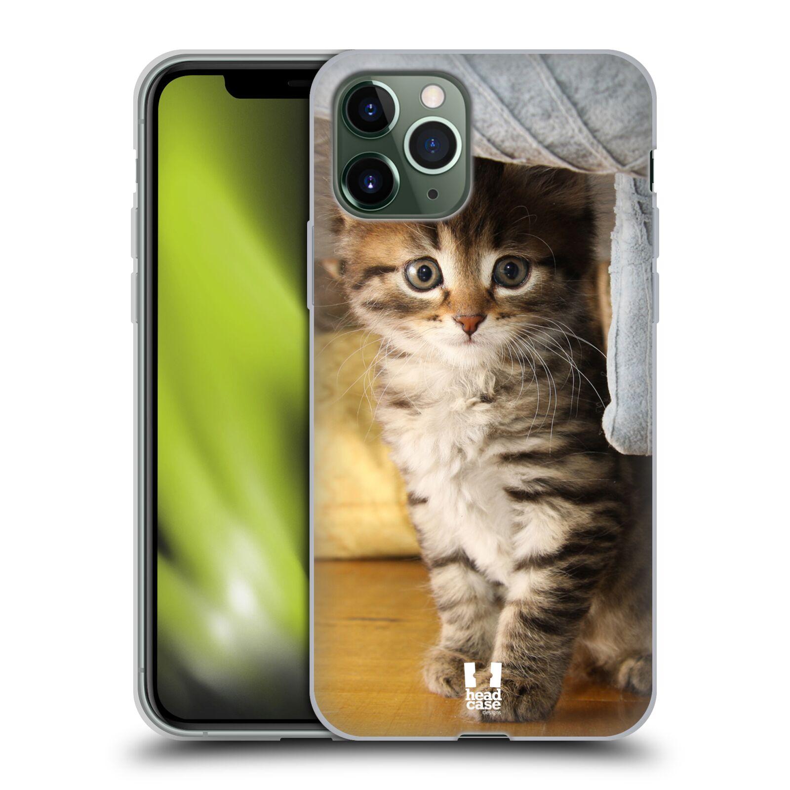 skla krytu na iphone xs max - Silikonové pouzdro na mobil Apple iPhone 11 Pro - Head Case - ZVÍDAVÉ KOTĚ