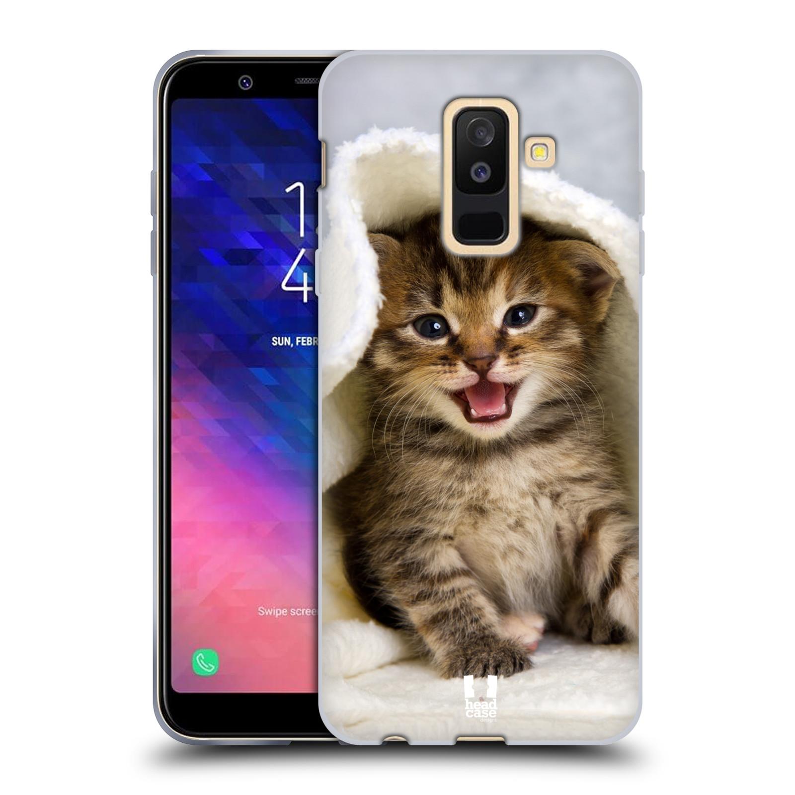 Silikonové pouzdro na mobil Samsung Galaxy A6 Plus (2018) - Head Case - KOTĚ V OSUŠCE