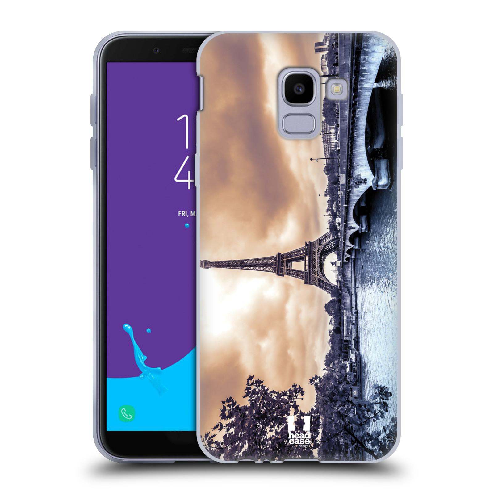 Silikonové pouzdro na mobil Samsung Galaxy J6 (2018) - Head Case - SUNSET SKYLINE PAŘÍŽ