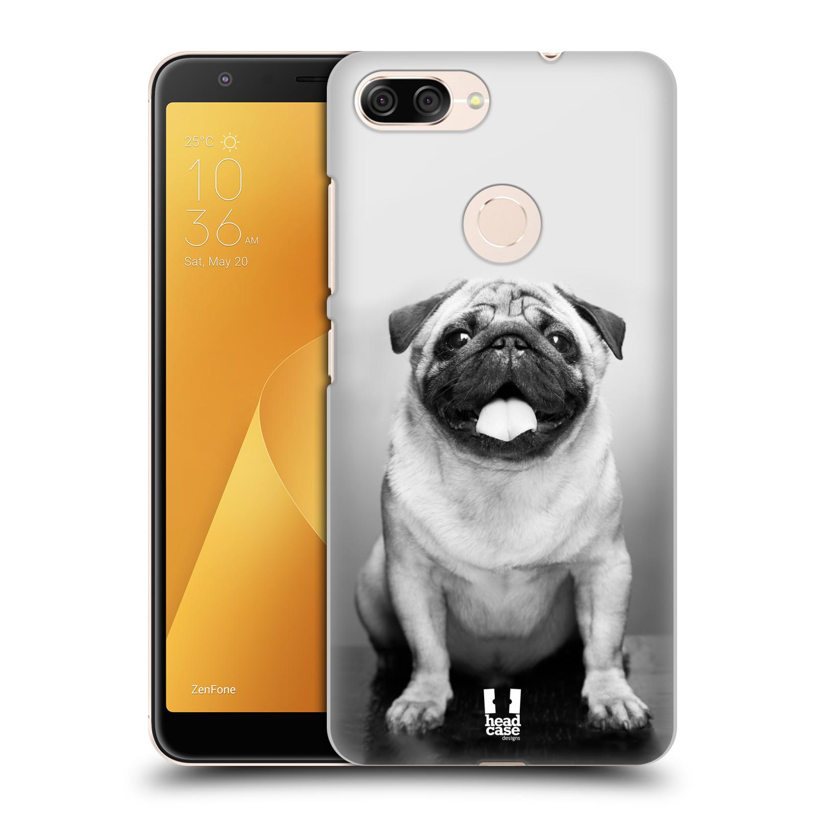 Plastové pouzdro na mobil Asus ZenFone Max Plus (M1) - Head Case - MOPSÍK (Plastový kryt či obal na mobilní telefon Asus ZenFone Max Plus M1 ZB570TL s motivem MOPSÍK)
