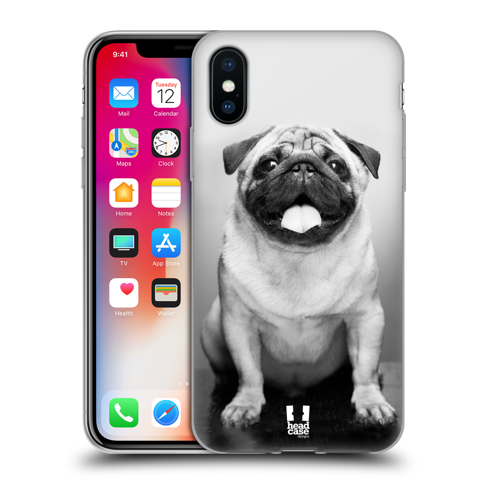 Silikonové pouzdro na mobil Apple iPhone XS - Head Case - MOPSÍK