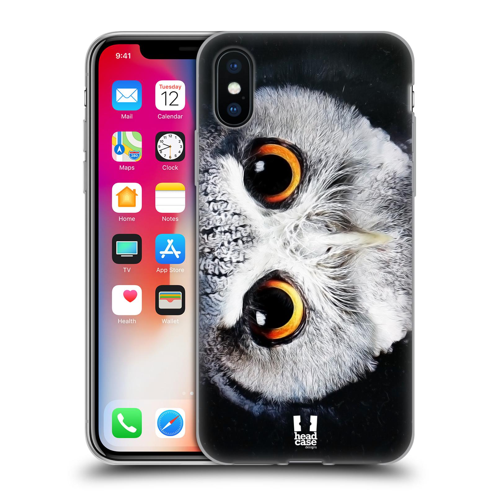 Silikonové pouzdro na mobil Apple iPhone XS - Head Case - TVÁŘ SOVA